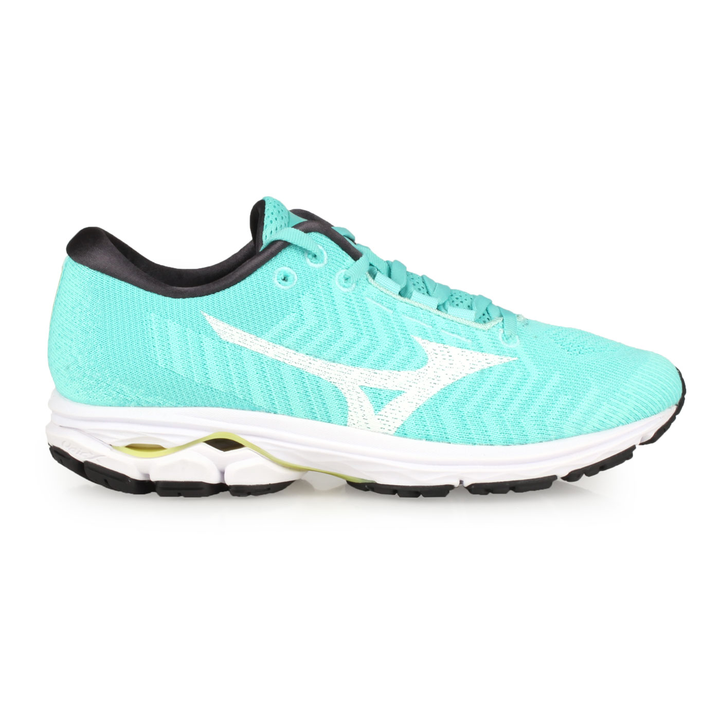 MIZUNO 女款慢跑鞋  @WAVE RIDER WAVEKNIT 3@J1GD192902 - 湖水綠白