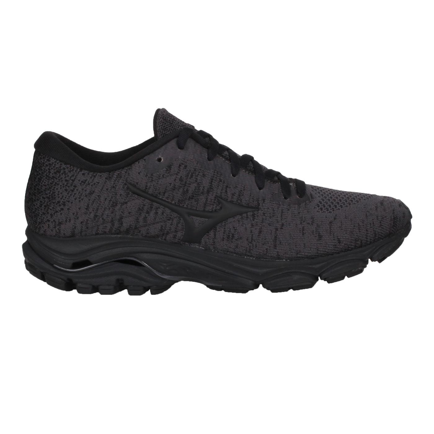 MIZUNO 女款慢跑鞋  @WAVE INSPIRE16 WAVEKNIT@J1GD201301 - 深麻灰黑