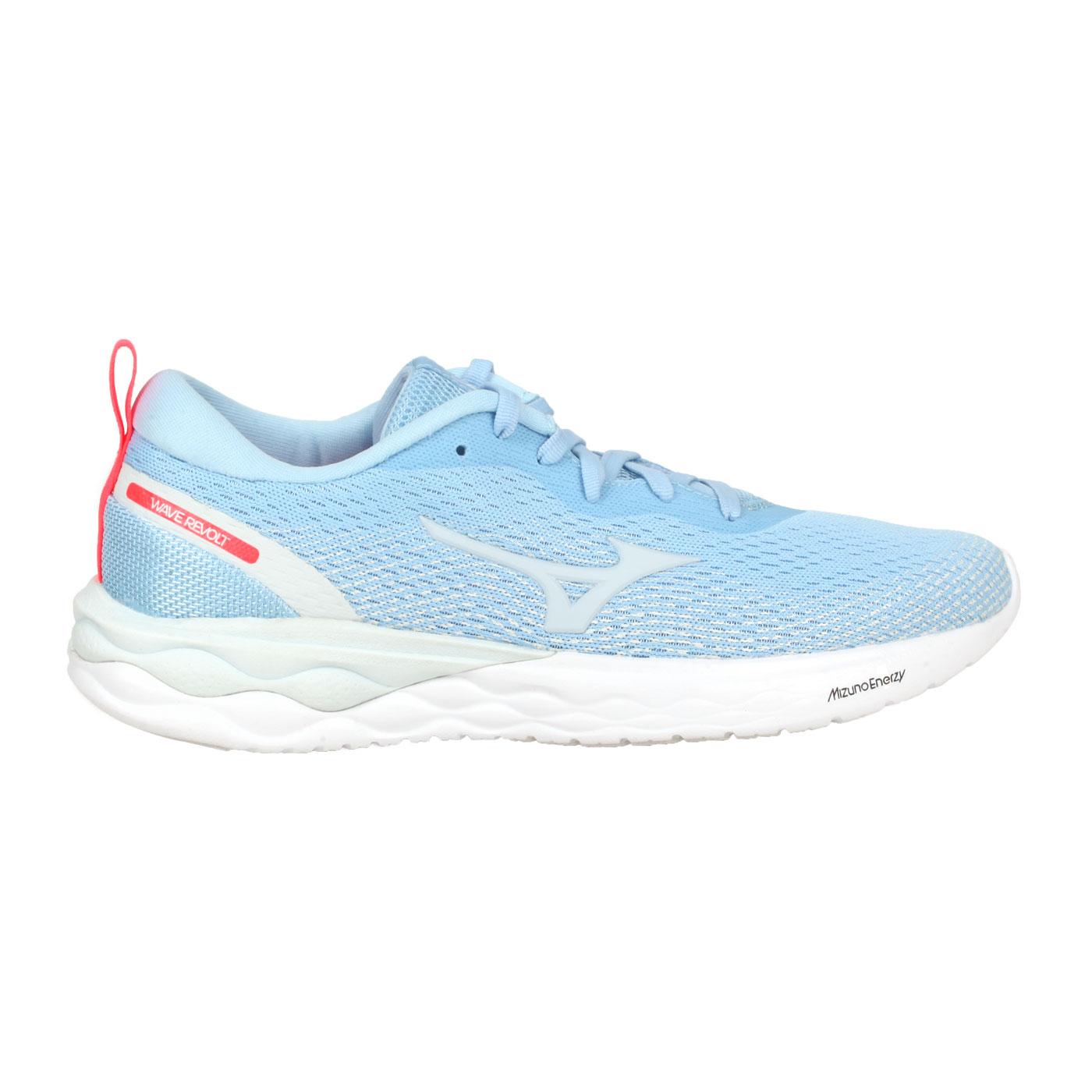 MIZUNO 女款慢跑鞋  @WAVE REVOLT@J1GD208125 - 粉藍灰亮紅