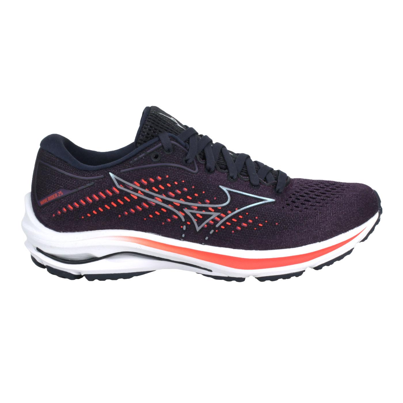 MIZUNO 特定-女款慢跑鞋  @WAVE RIDER 25@J1GD210358 - 深紫橘
