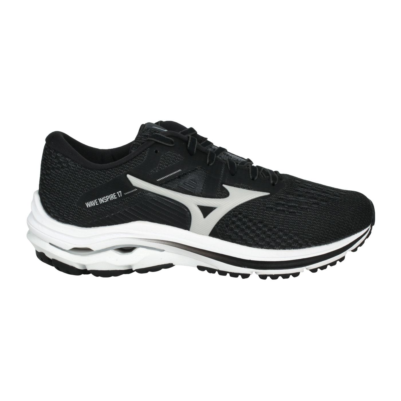 MIZUNO 女款慢跑鞋-WIDE  @WAVE INSPIRE 17 WIDE@J1GD214638 - 黑淺灰