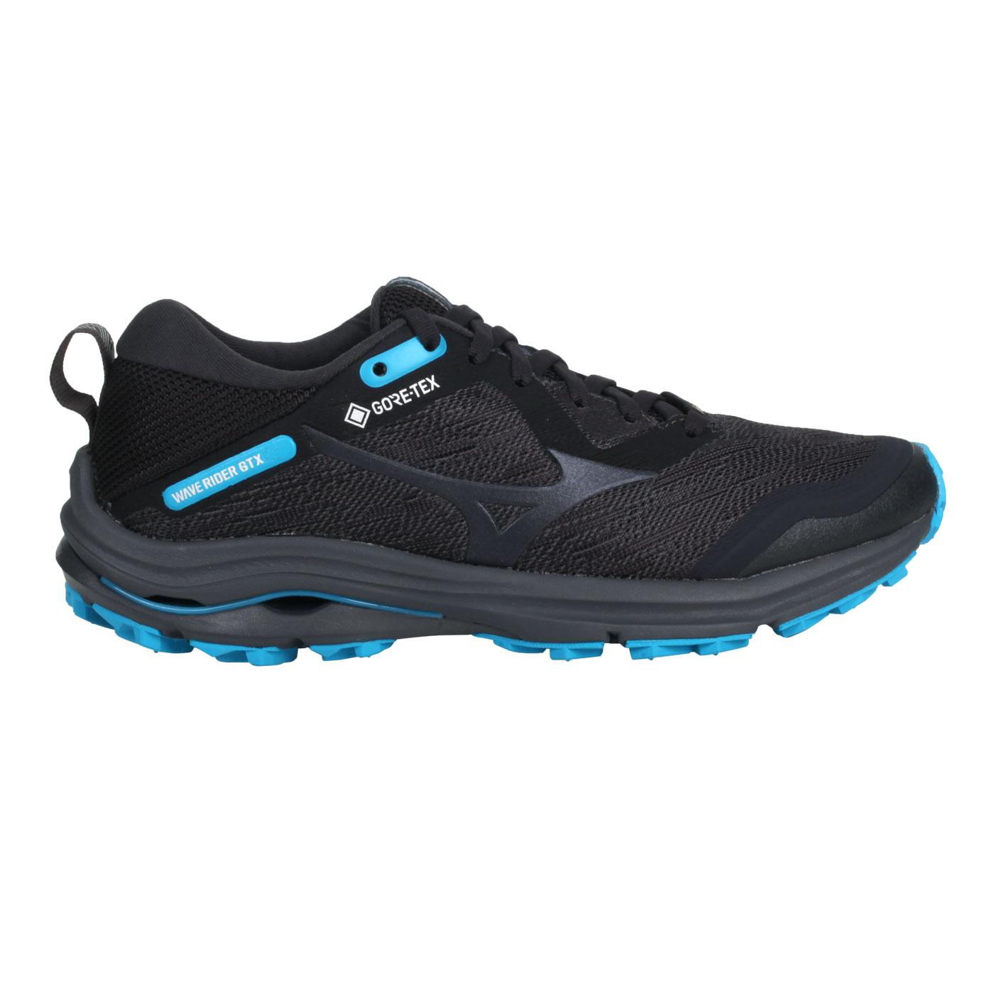 MIZUNO 女款慢跑鞋  @WAVE RIDER GTX@J1GD217913 - 灰水藍