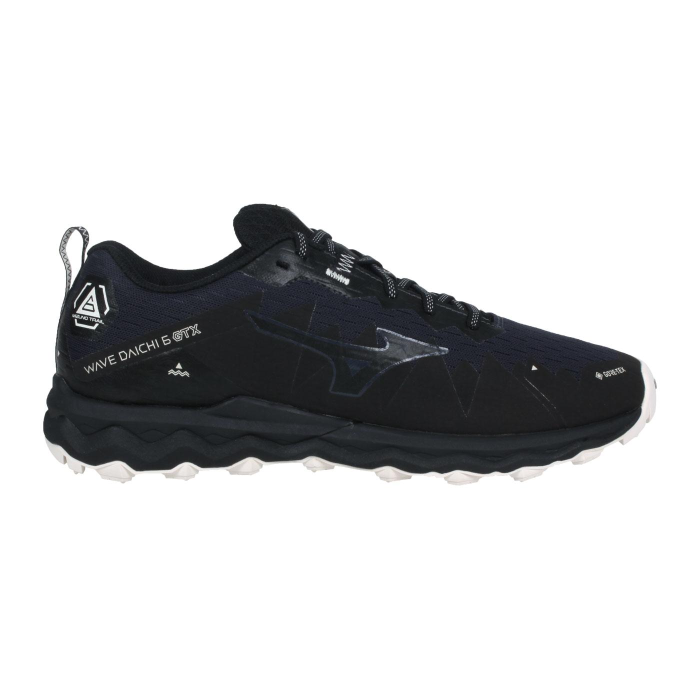 MIZUNO 男款慢跑鞋  @WAVE DAICHI 6 GTX@J1GJ215642 - 黑丈青