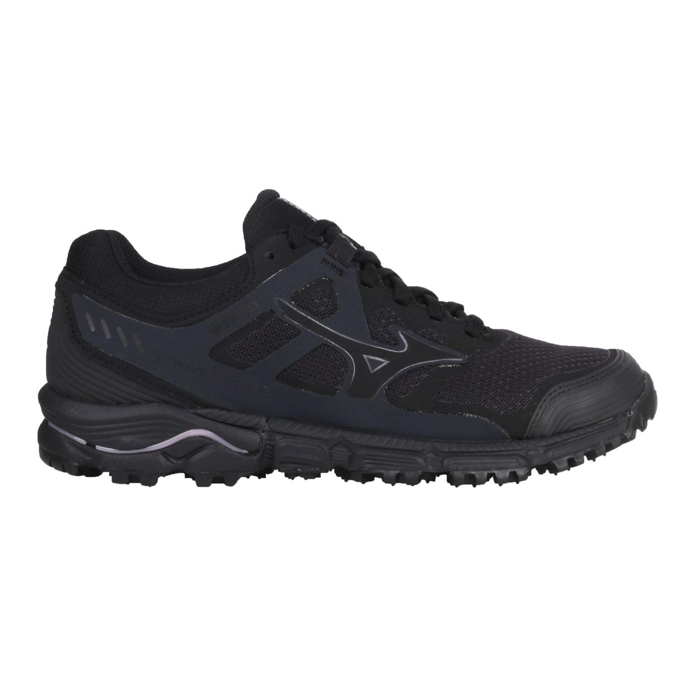 MIZUNO 女款越野慢跑鞋  @WAVE DAICHI 5 GTX@J1GK205609 - 黑