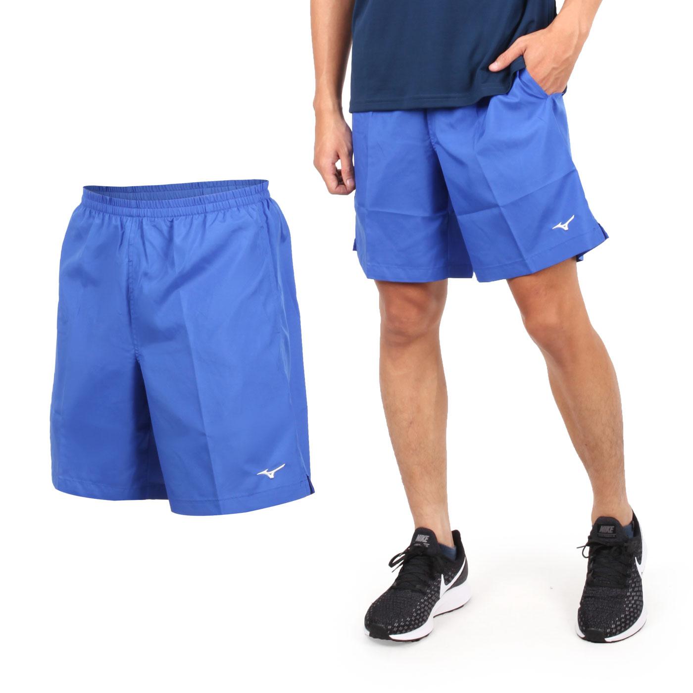 MIZUNO 男路跑短褲 J2TB8A0205 - 藍白