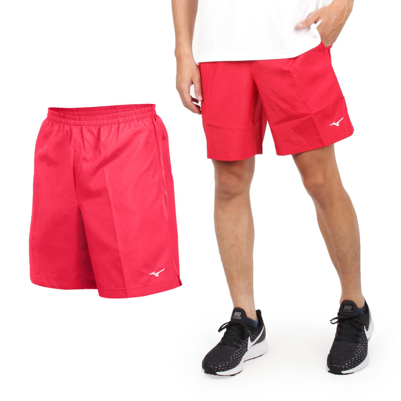 MIZUNO 男路跑短褲 J2TB8A0205 - 紅白