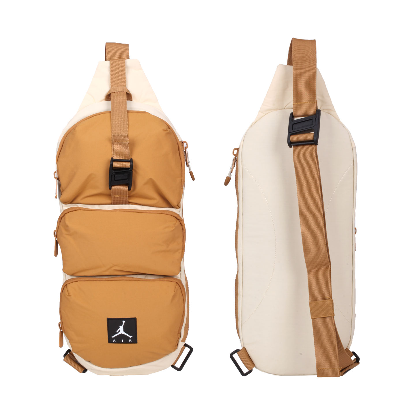NIKE JORDAN 大型腰包 JD2113014AD-002 - 米白黃棕