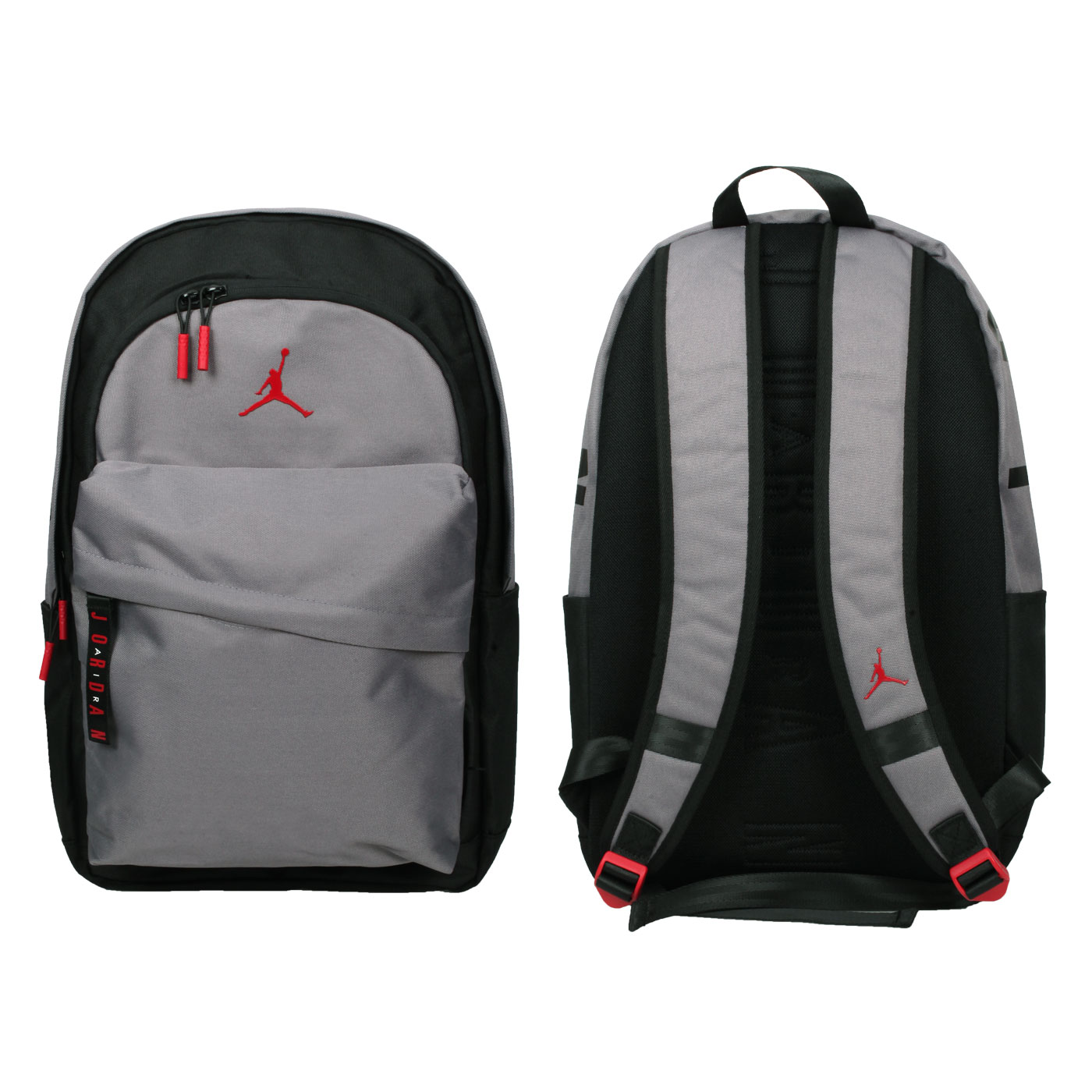 NIKE 大型雙肩包 JD2123006GS-002 - 黑灰紅
