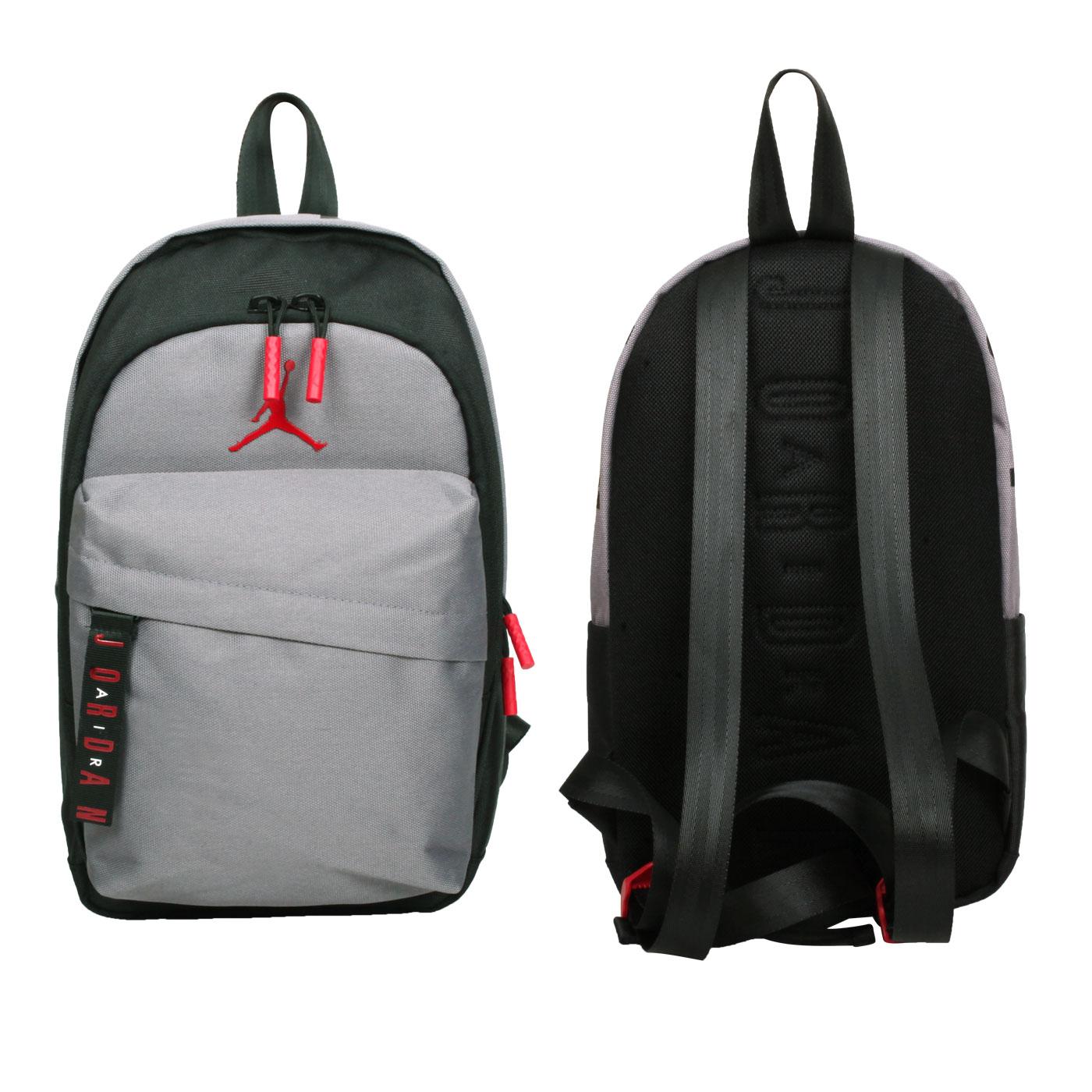 NIKE 小型雙肩包 JD2123006TD-002 - 黑灰紅