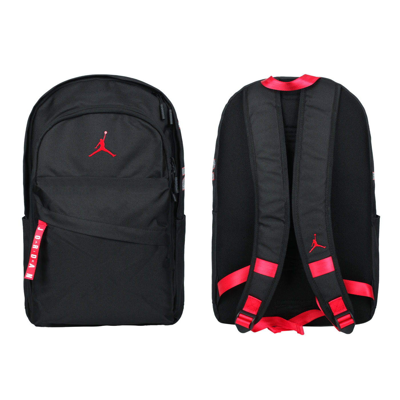 NIKE 大型雙肩包 JD2133032GS-001 - 黑紅