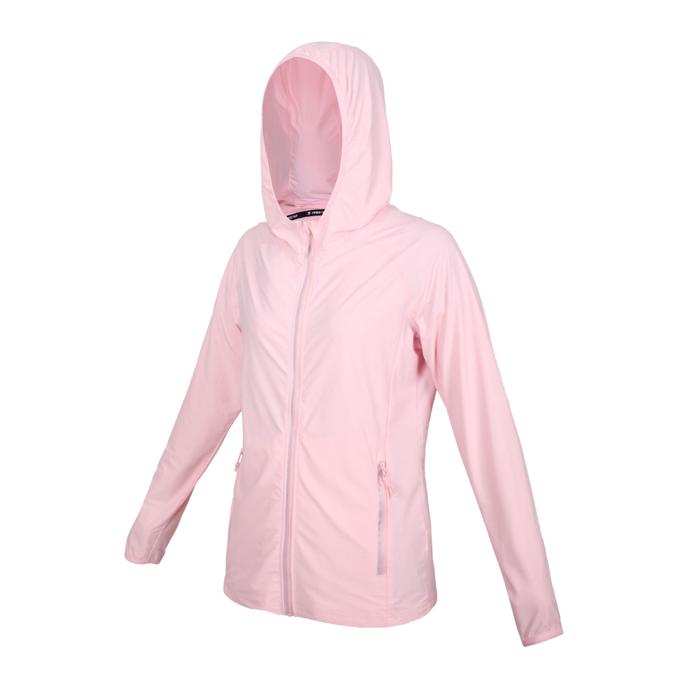 FIRESTAR 女款彈性防曬連帽外套 JL175-43 - 粉紅銀