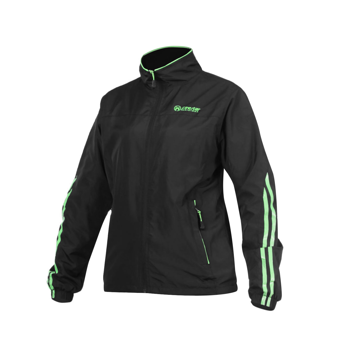 FIRESTAR 女款防水防風磨毛裏夾克 JL563-10 - 黑螢光綠