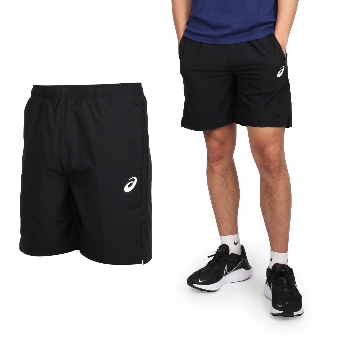 ASICS 男款平織短褲 K12050-90 - 黑白