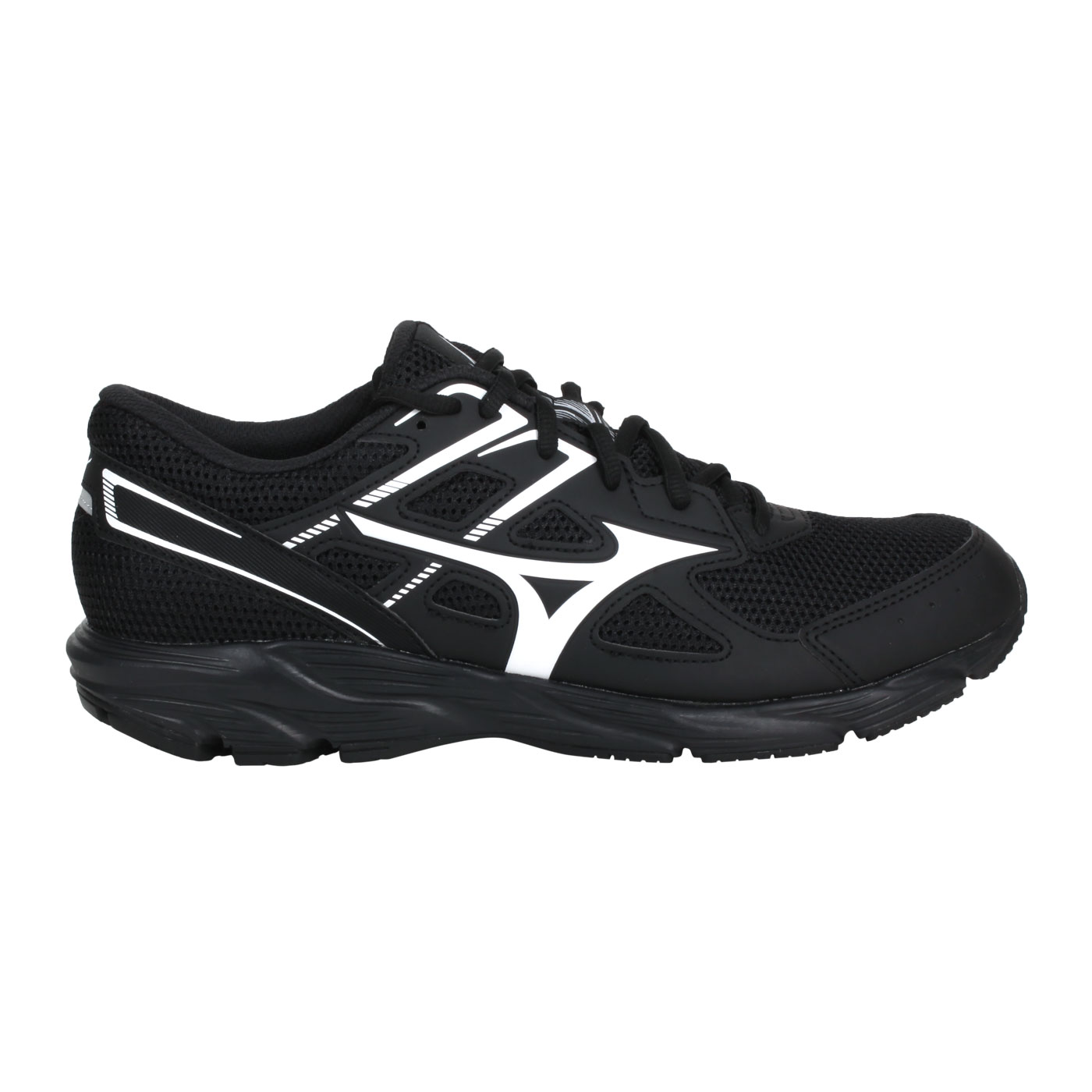 MIZUNO 男款慢跑鞋-WIDE  @MAXIMIZER 23@K1GA210010 - 黑白