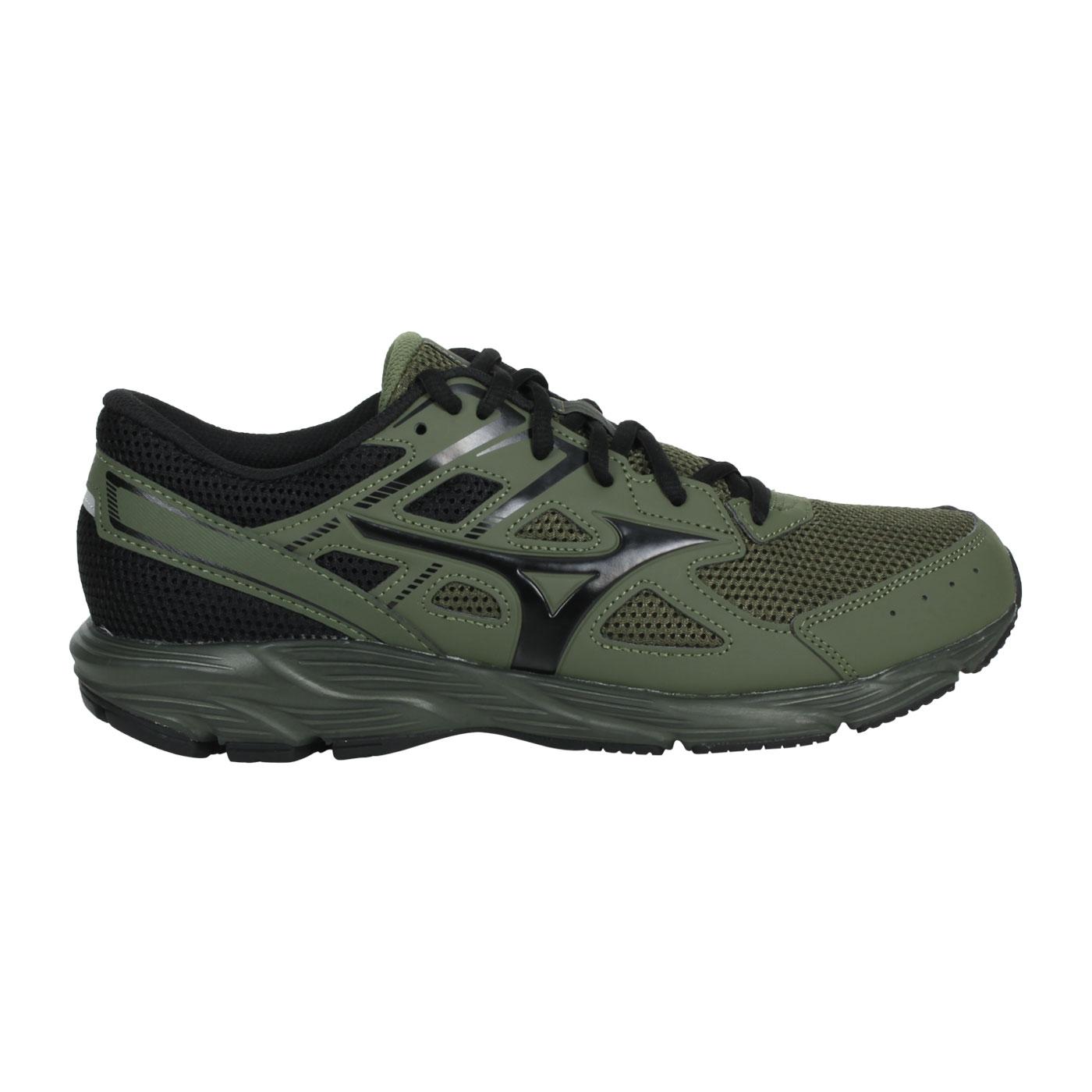 MIZUNO 男款慢跑鞋-WIDE  @MAXIMIZER 23@K1GA210086 - 軍綠黑