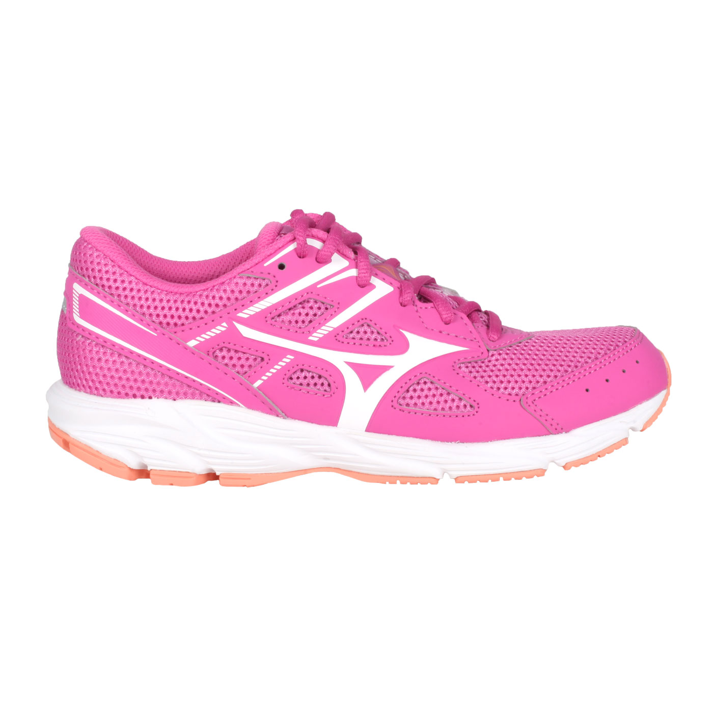 MIZUNO 女款慢跑鞋  @ SPARK 6@K1GA210403 - 桃紅白橘