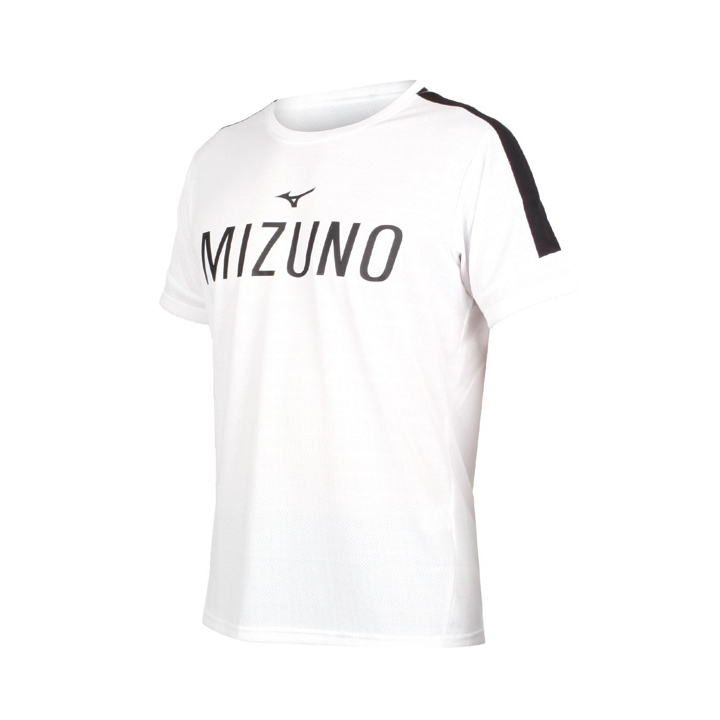 MIZUNO 男款短袖T恤 K2TA050201 - 白黑