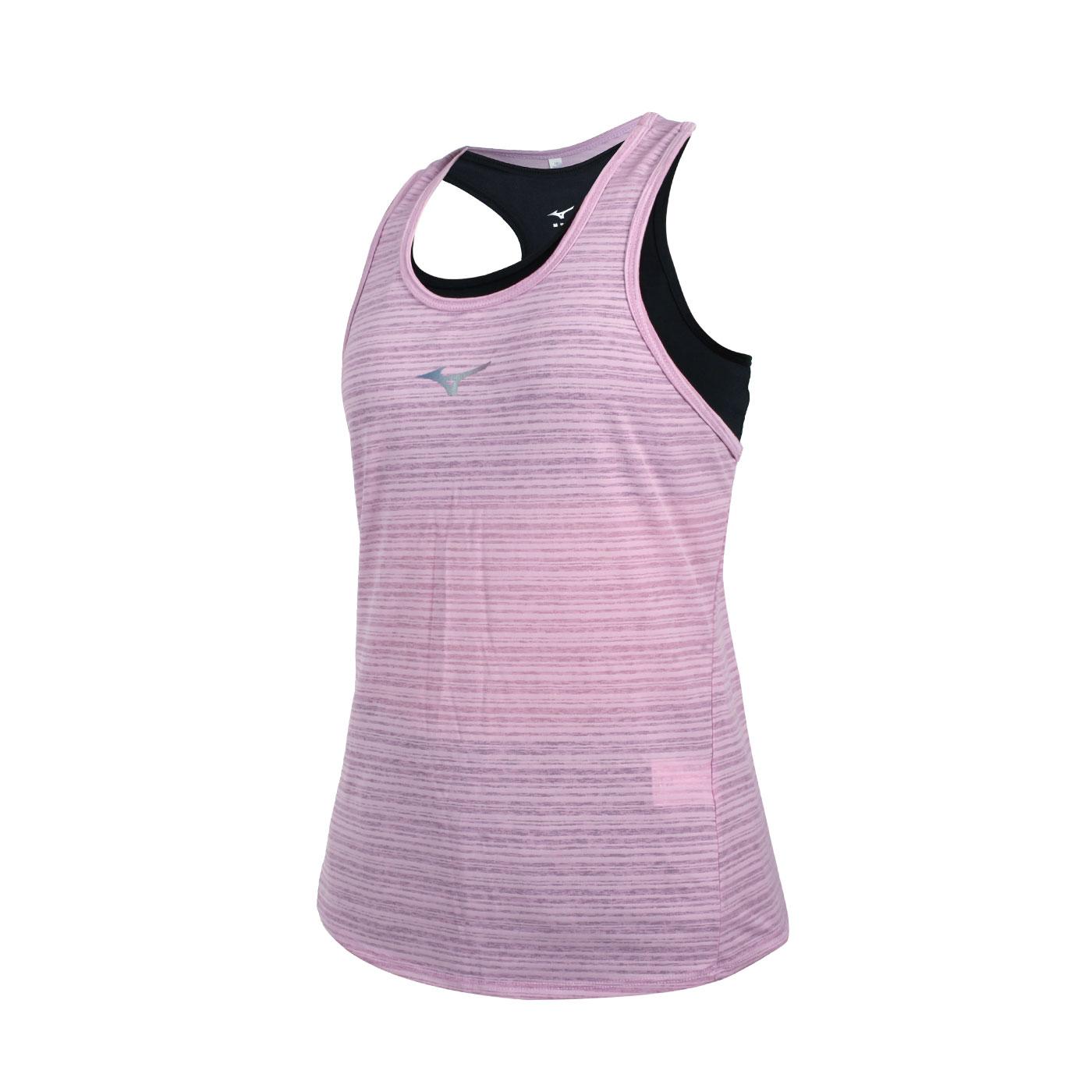 MIZUNO 女款兩件式瑜珈背心 K2TA120466 - 藕紫銀黑