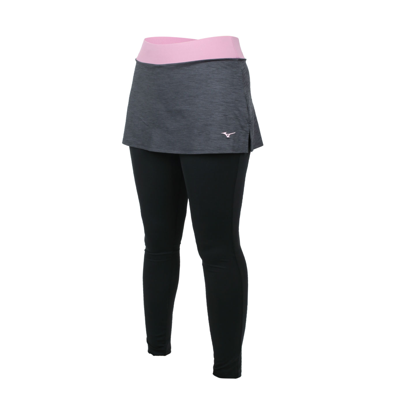 MIZUNO 女款緊身褲裙 K2TB120709 - 黑灰粉