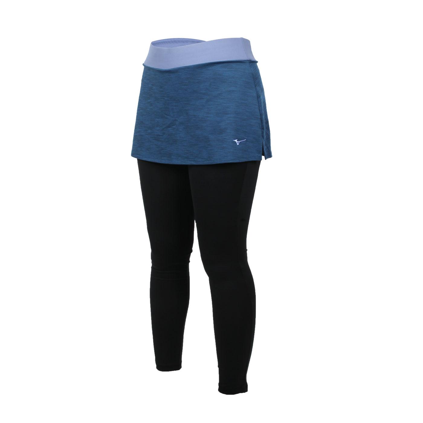 MIZUNO 女款緊身褲裙 K2TB120733 - 深藍粉藍