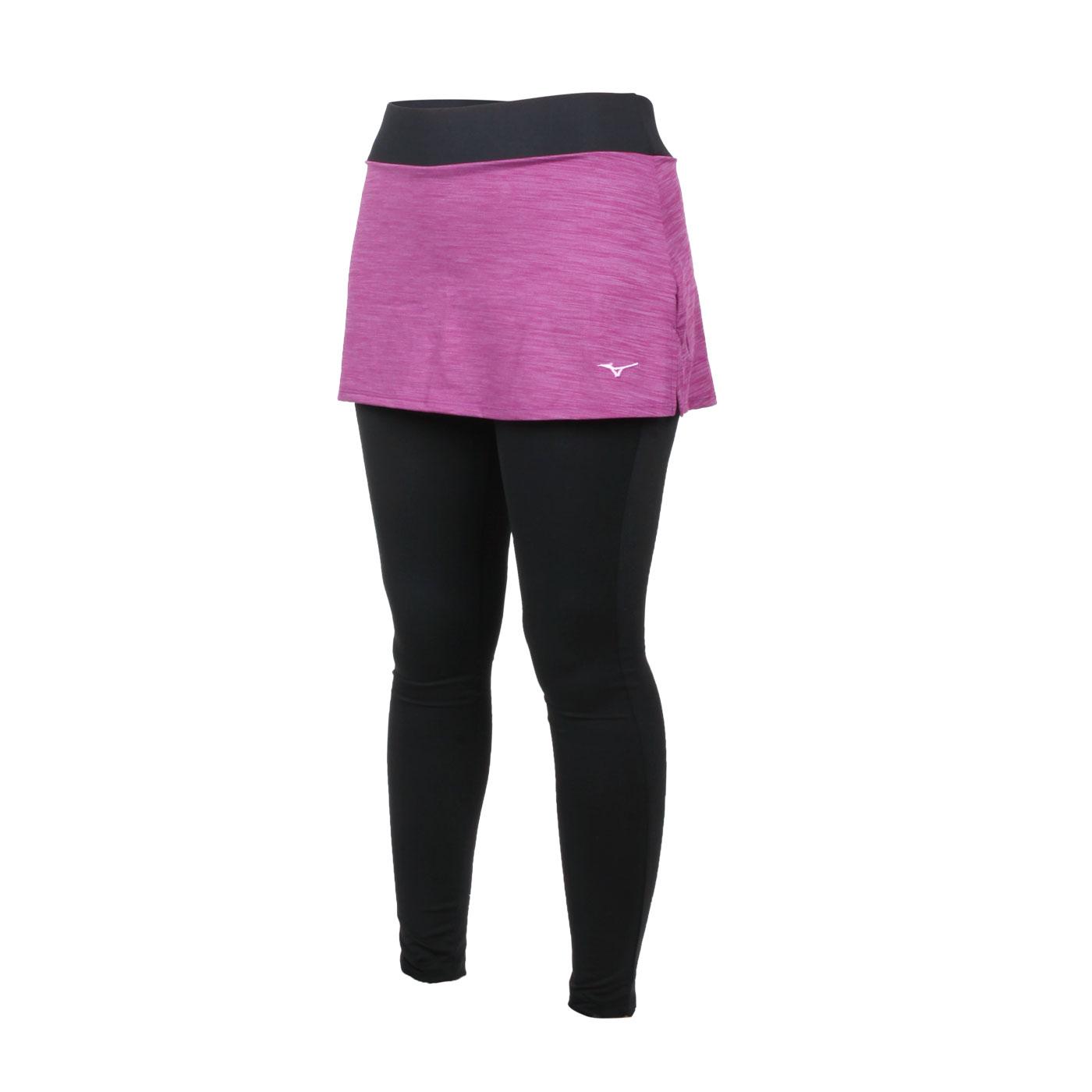 MIZUNO 女款緊身褲裙 K2TB120768 - 深紫黑