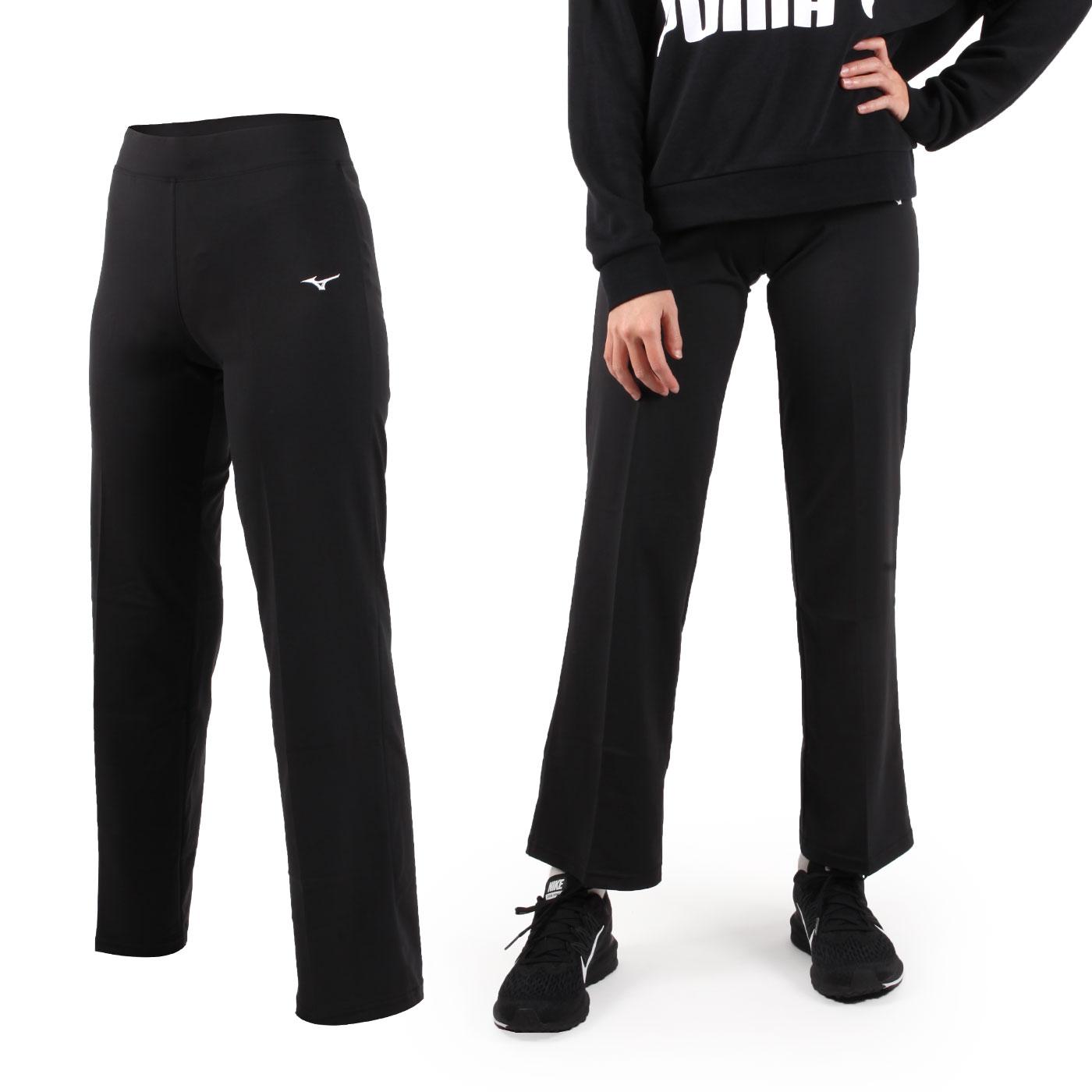MIZUNO 女款瑜珈長褲 K2TB8C0109 - 黑白
