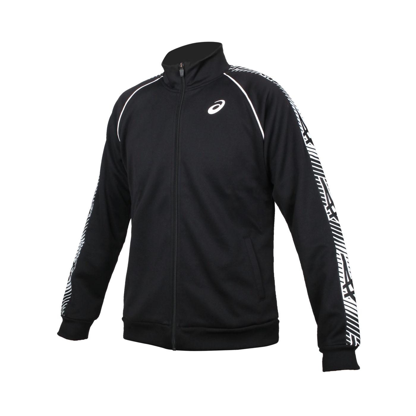 ASICS 男款針織外套 K32018-90 - 黑白