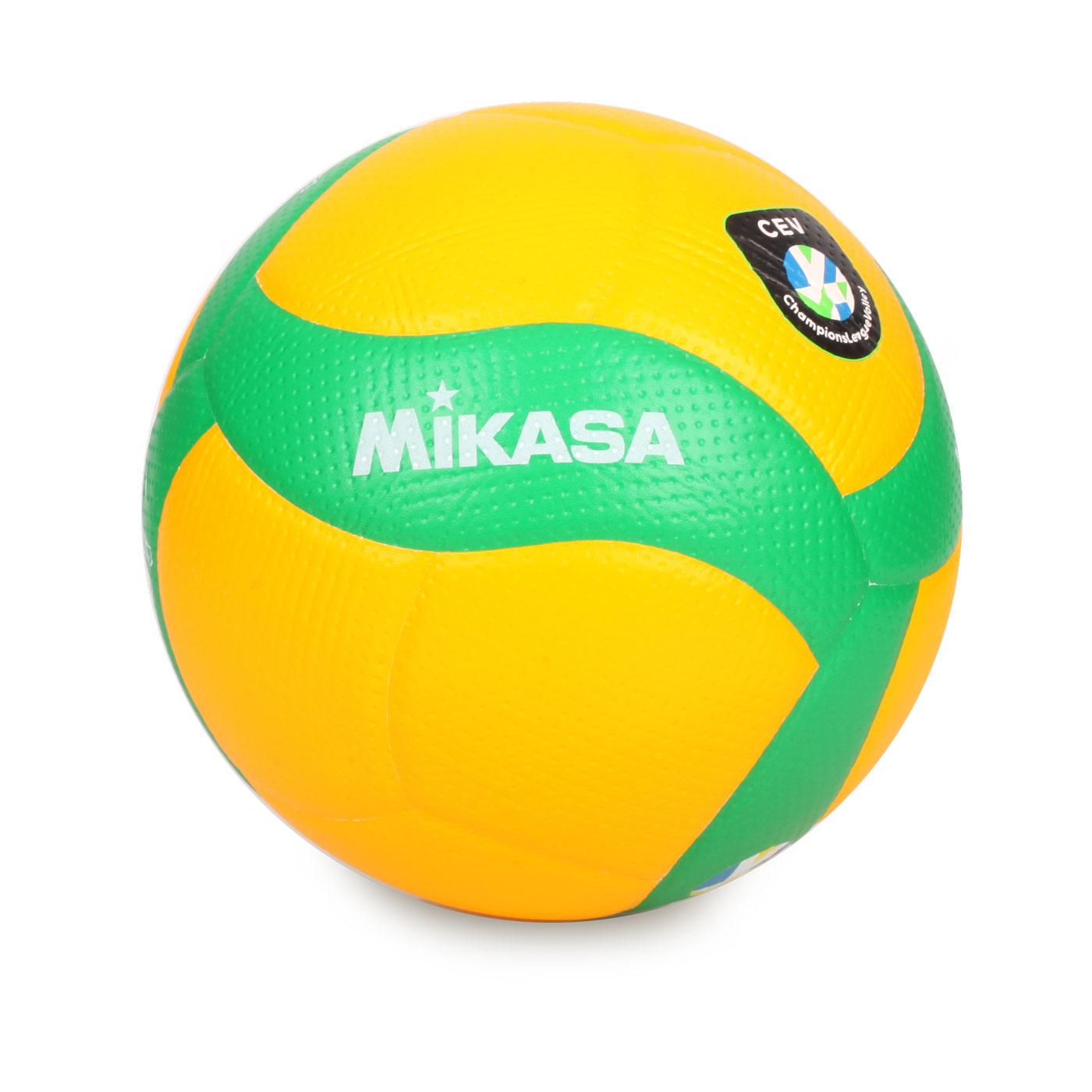 MIKASA 歐冠專用比賽用排球#5 KMV200WCEV - 黃綠