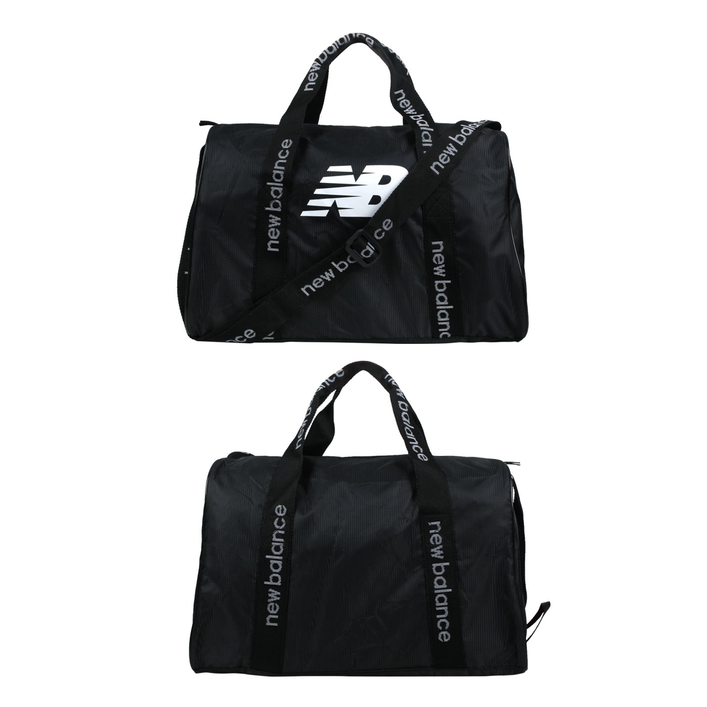 NEW BALANCE 運動提袋 LAB13102BK - 黑白