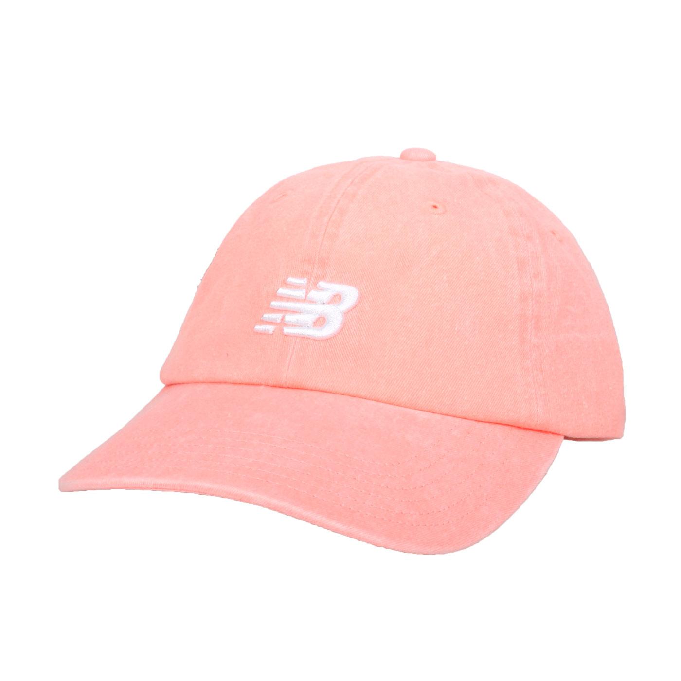 NEW BALANCE 帽子 LAH91014PPI - 螢光粉白
