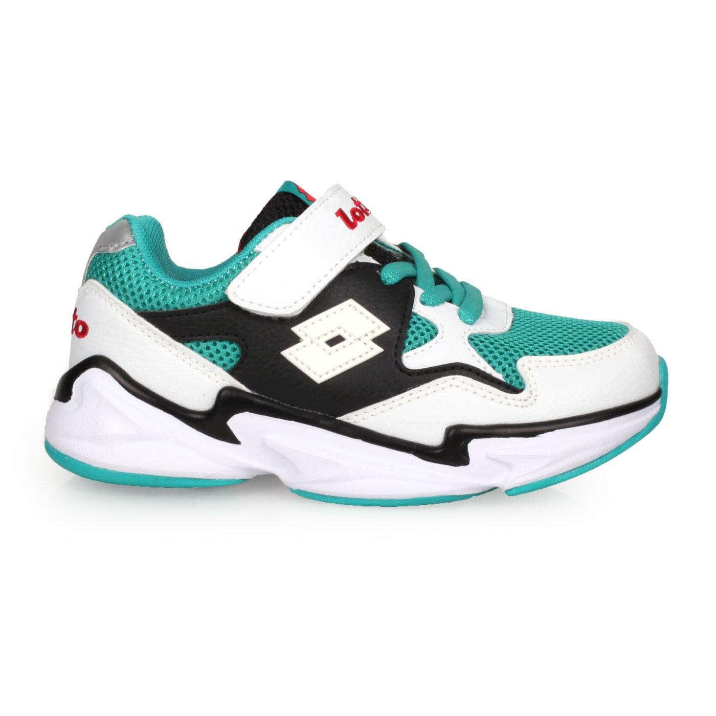LOTTO 中童復古運動鞋 LT0AKR1773 - 白綠黑