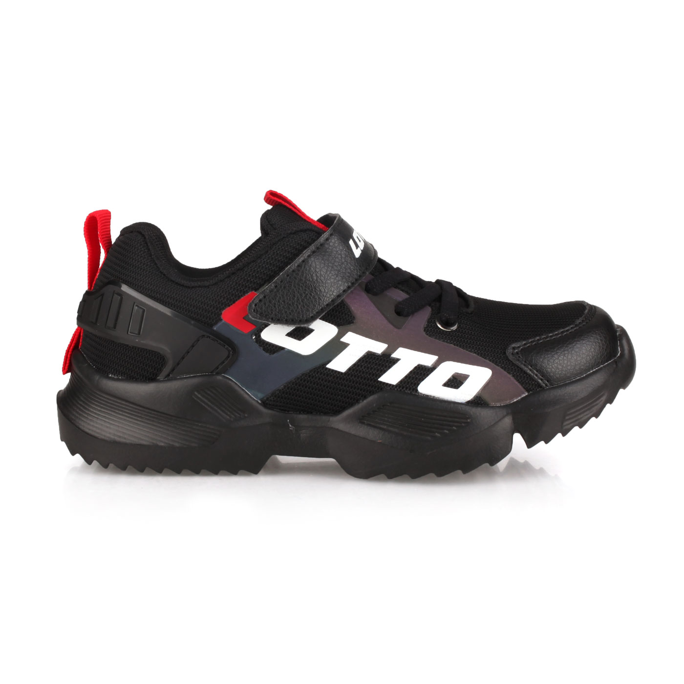 LOTTO 中童輕量跑鞋 LT0AKR1790 - 黑白紅