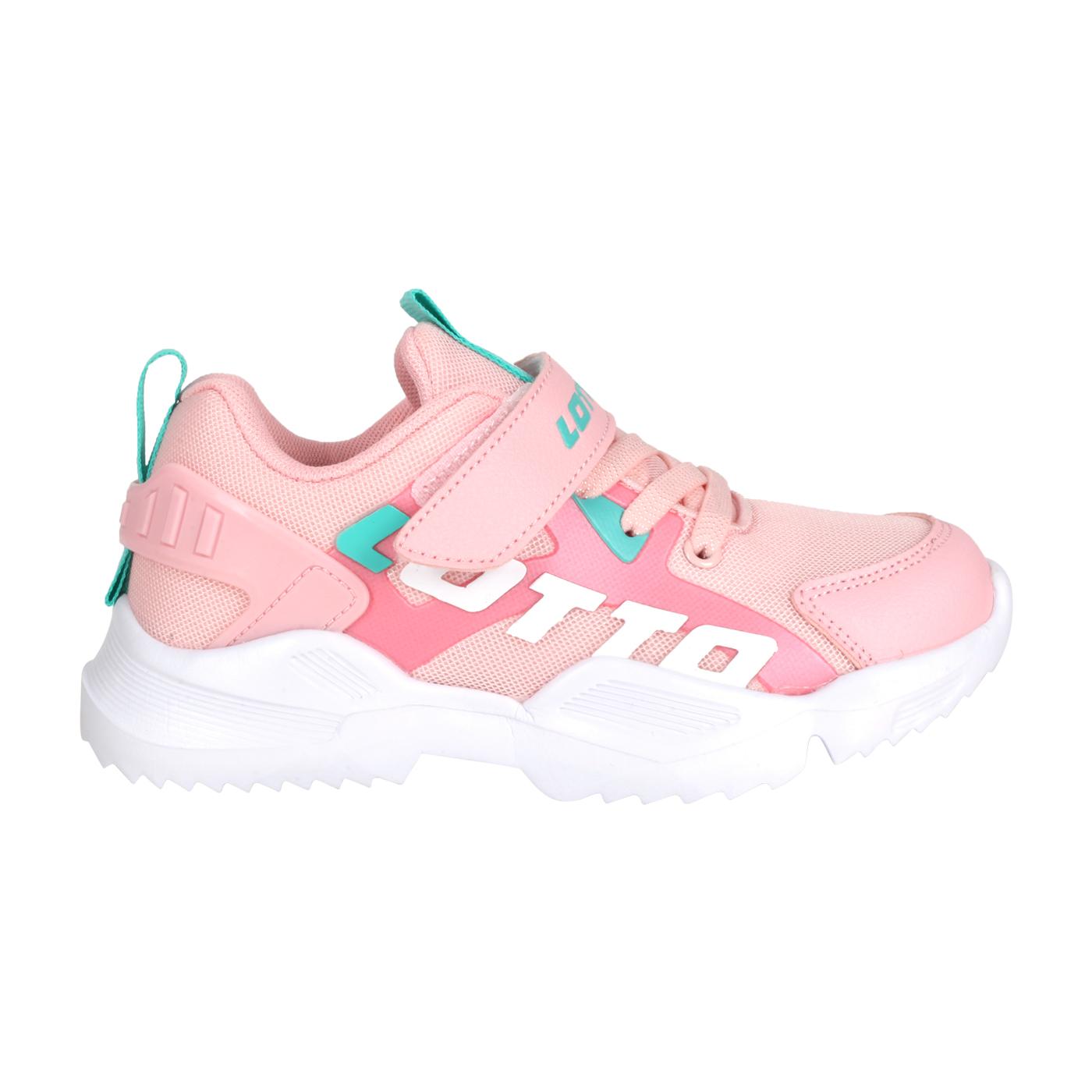 LOTTO 中童輕量跑鞋 LT0AKR1793 - 粉紅綠白