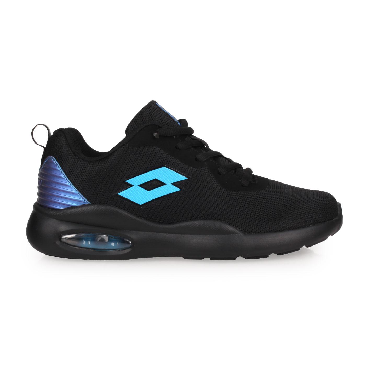 LOTTO 大童輕氣墊跑鞋 LT0AKR2120 - 黑藍