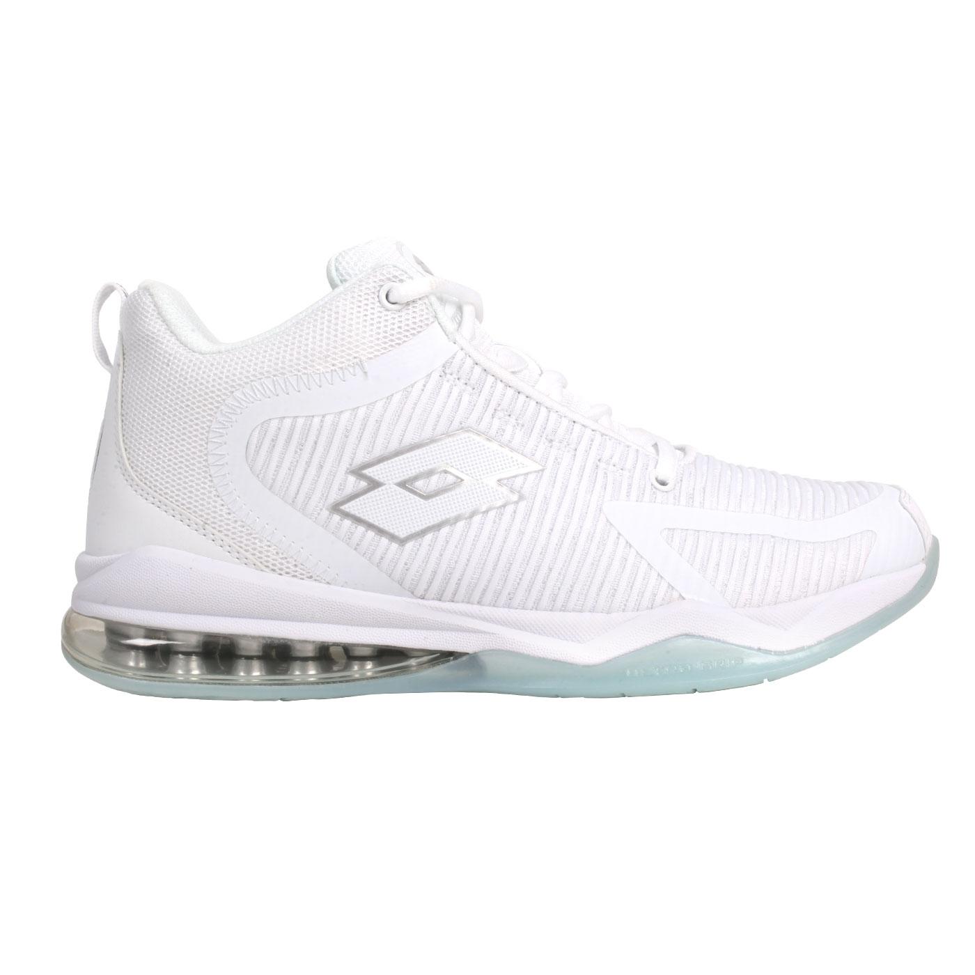 LOTTO 男款氣墊籃球鞋 LT0AMB2739 - 白銀