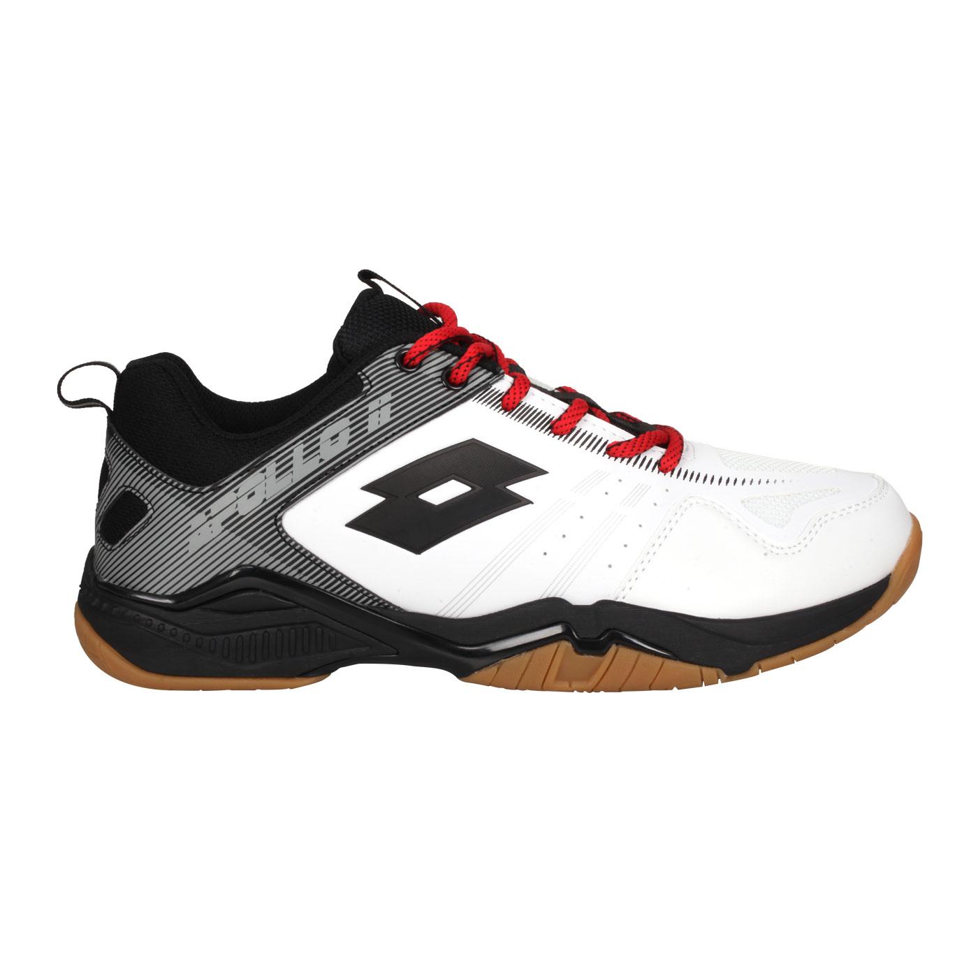 LOTTO 男款專業羽球鞋 LT0AMI2588 - 白黑灰紅