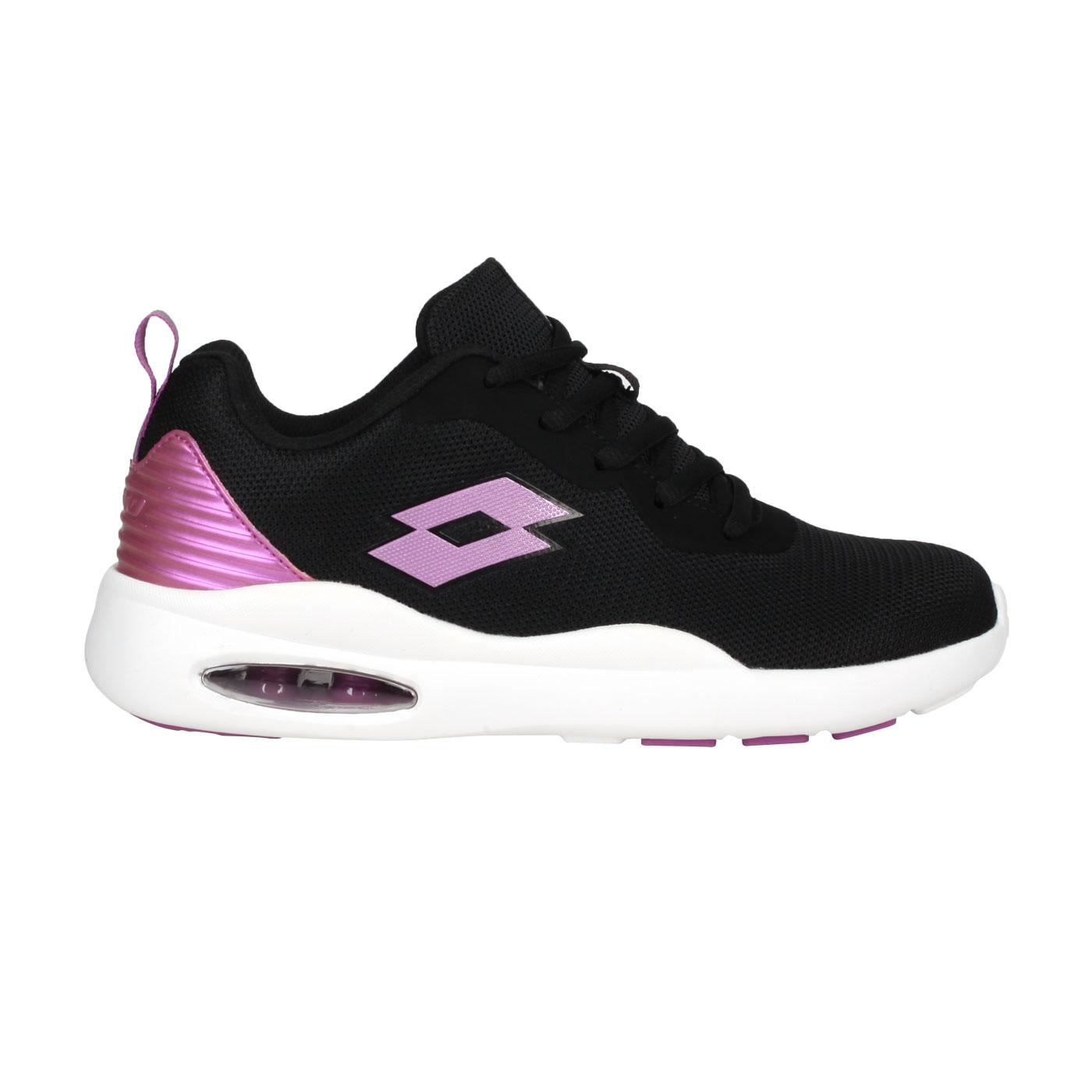 LOTTO 女款輕氣墊跑鞋 LT0AWR2110 - 黑粉紫
