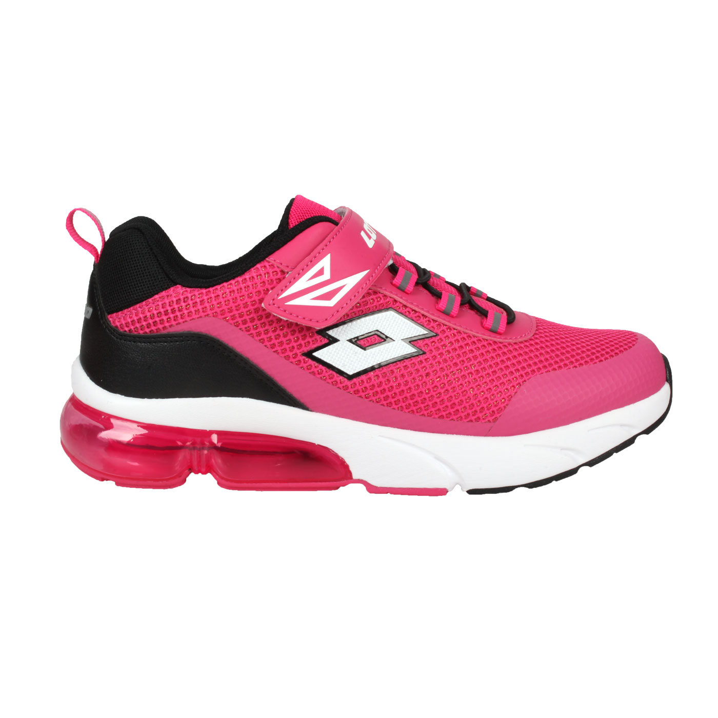 LOTTO 女款閃耀氣墊跑鞋 LT1AKR3073 - 桃紅黑
