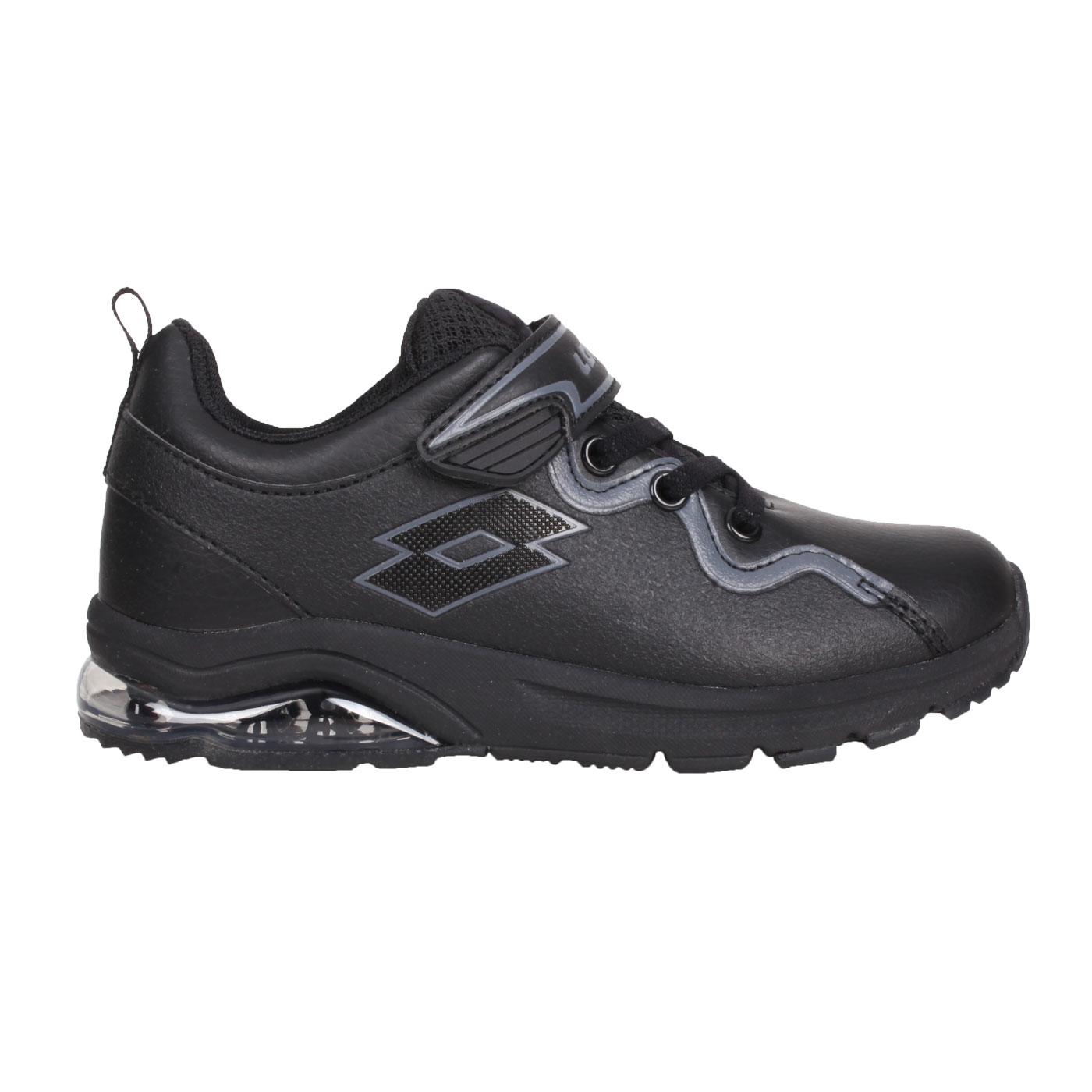 LOTTO 中童透氣跑鞋 LT1AKR3120 - 黑灰