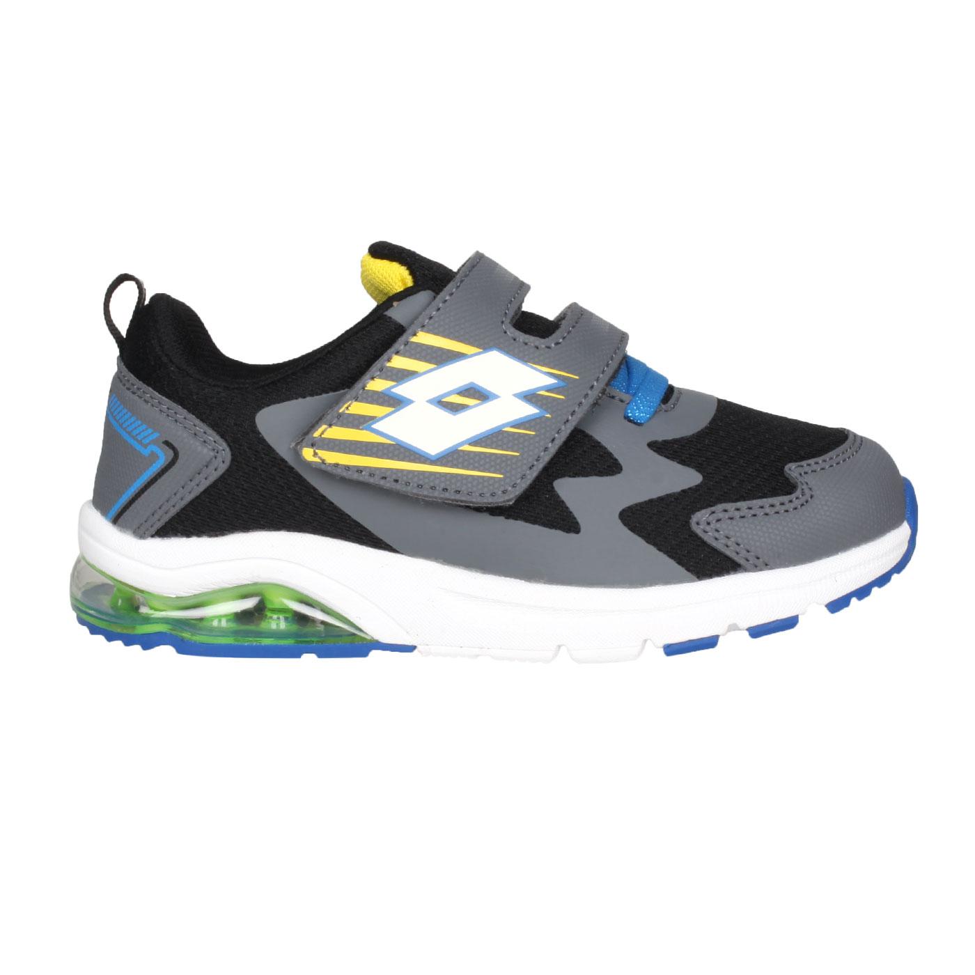 LOTTO 大童避震氣墊跑鞋 LT1AKR3770 - 黑灰藍