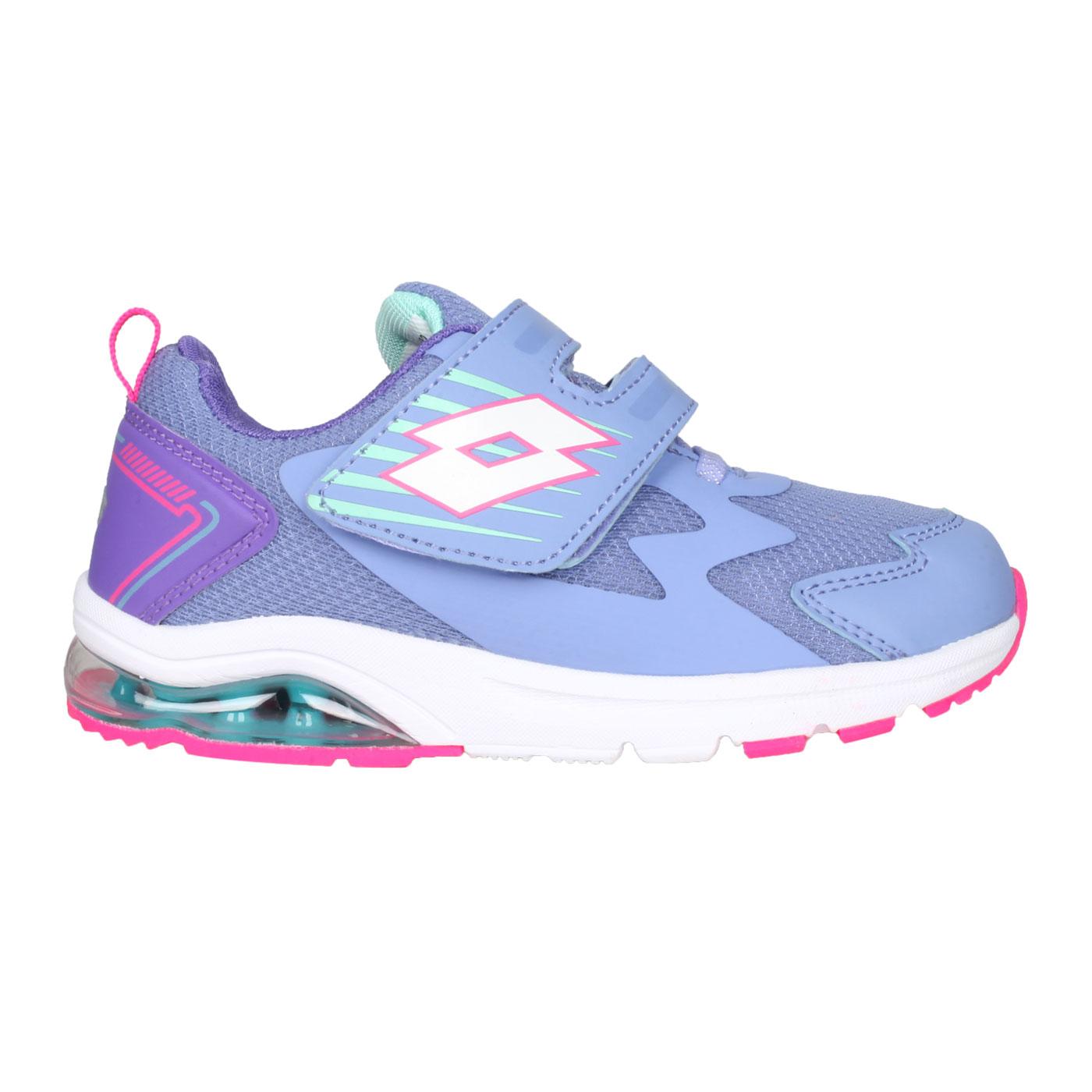 LOTTO 大童避震氣墊跑鞋 LT1AKR3777 - 紫桃紅白