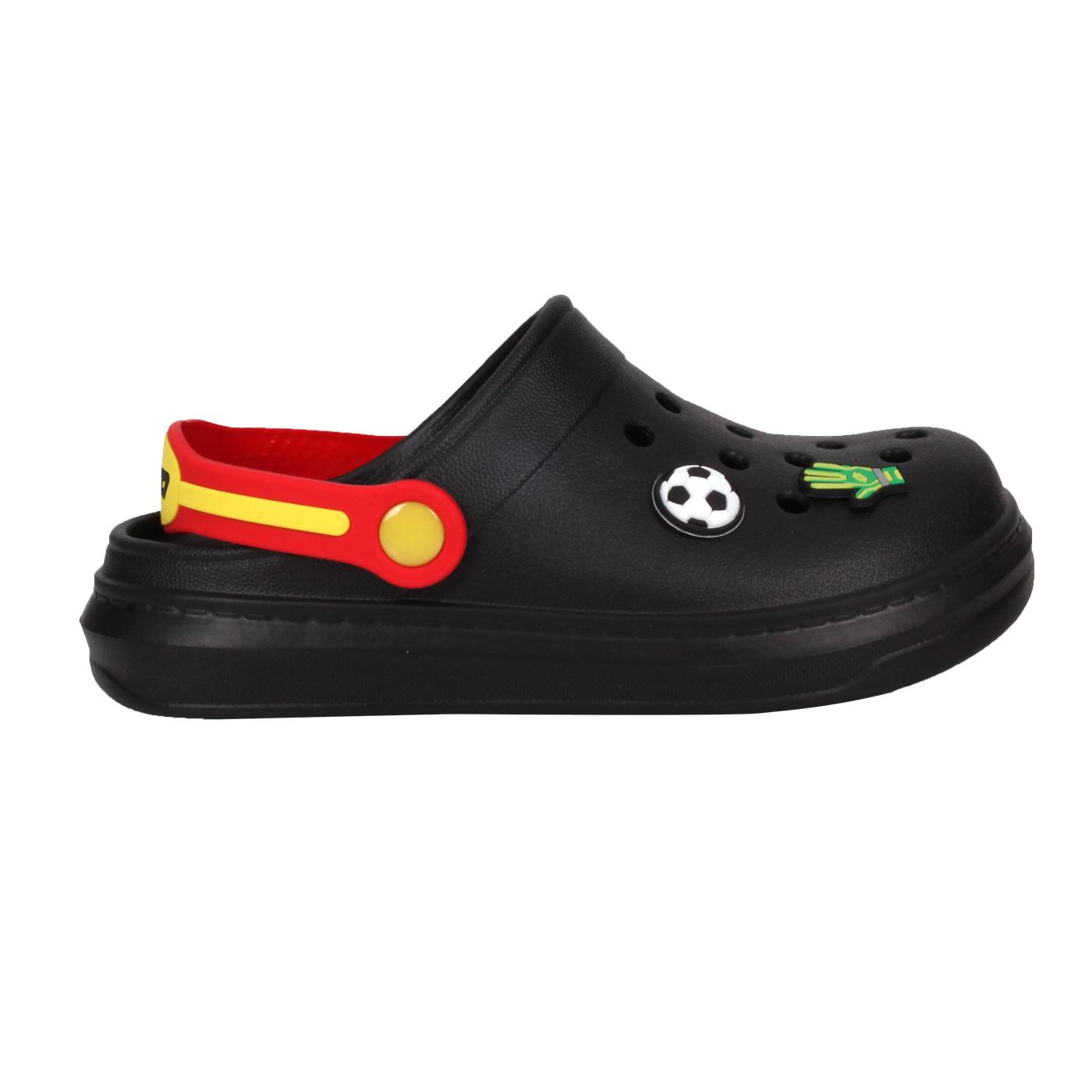 LOTTO 中童FANO清涼拖鞋 LT1AKS3080 - 黑紅黃白綠