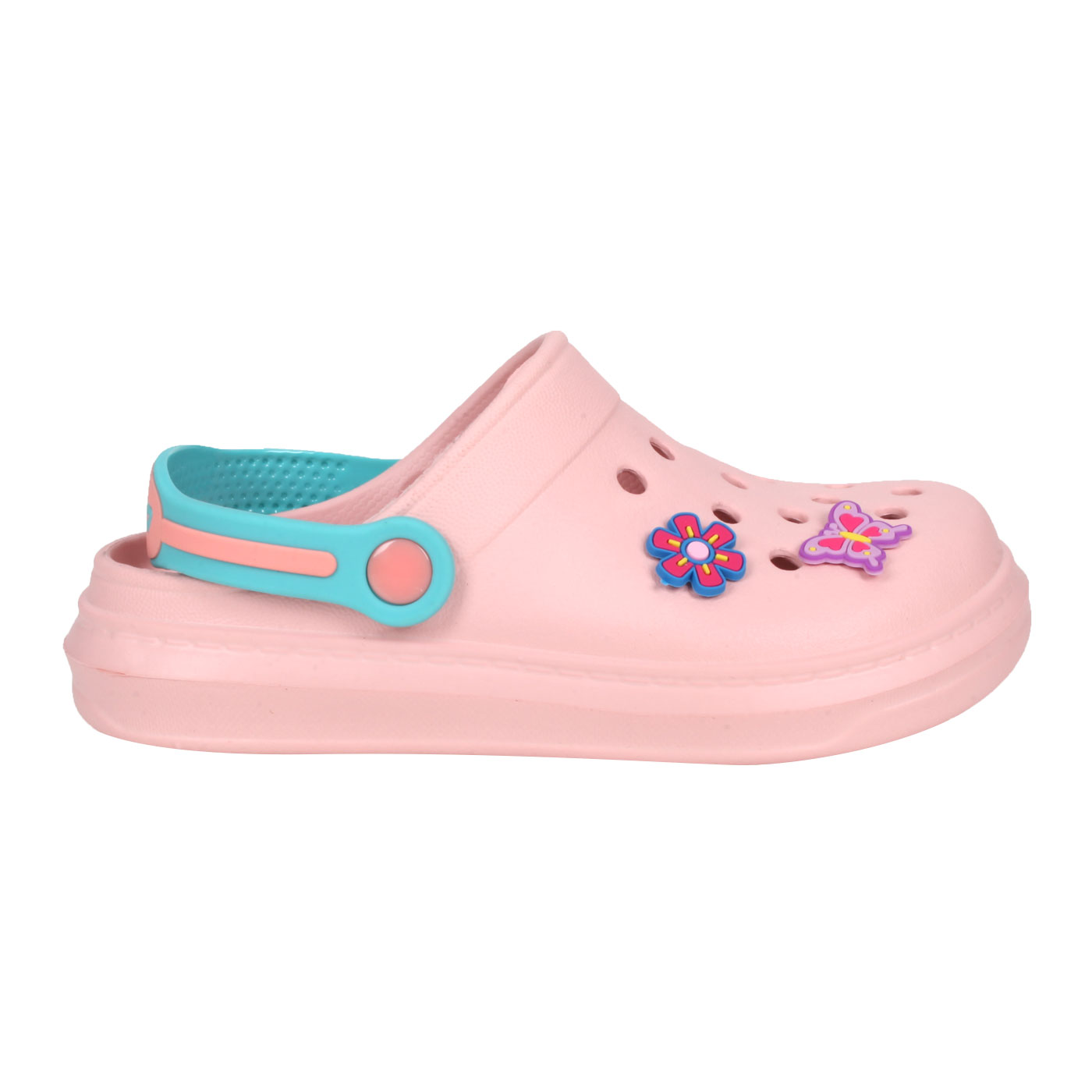 LOTTO 中童FANO清涼拖鞋 LT1AKS3083 - 粉紅綠紫藍