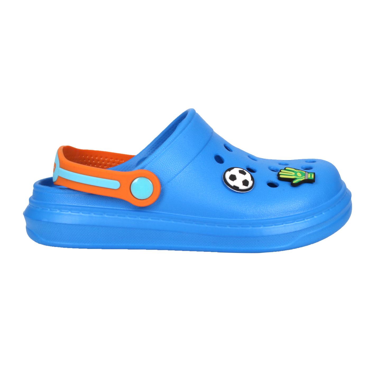 LOTTO 中童FANO清涼拖鞋 LT1AKS3086 - 藍橘白綠