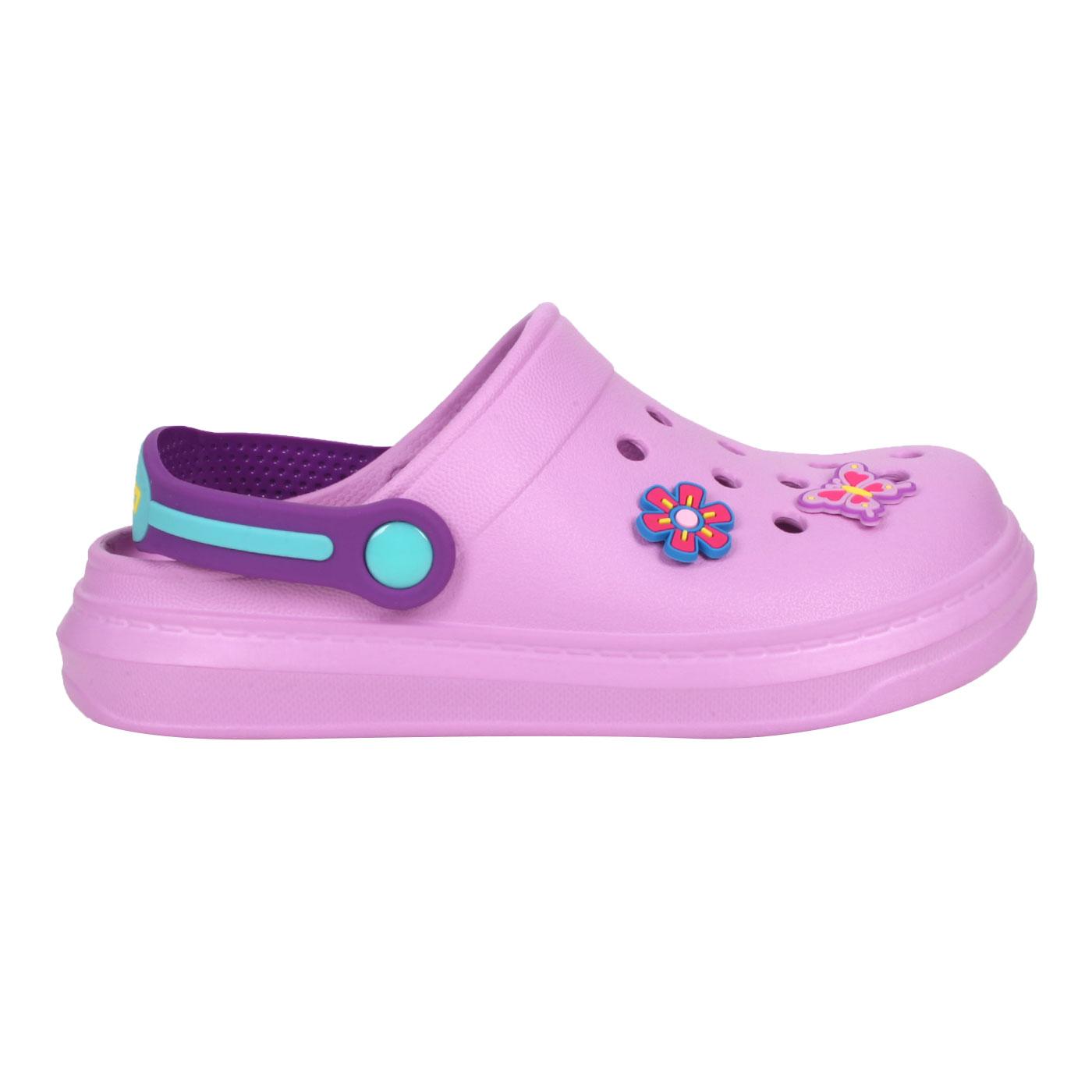 LOTTO 中童FANO清涼拖鞋 LT1AKS3087 - 紫綠黃藍