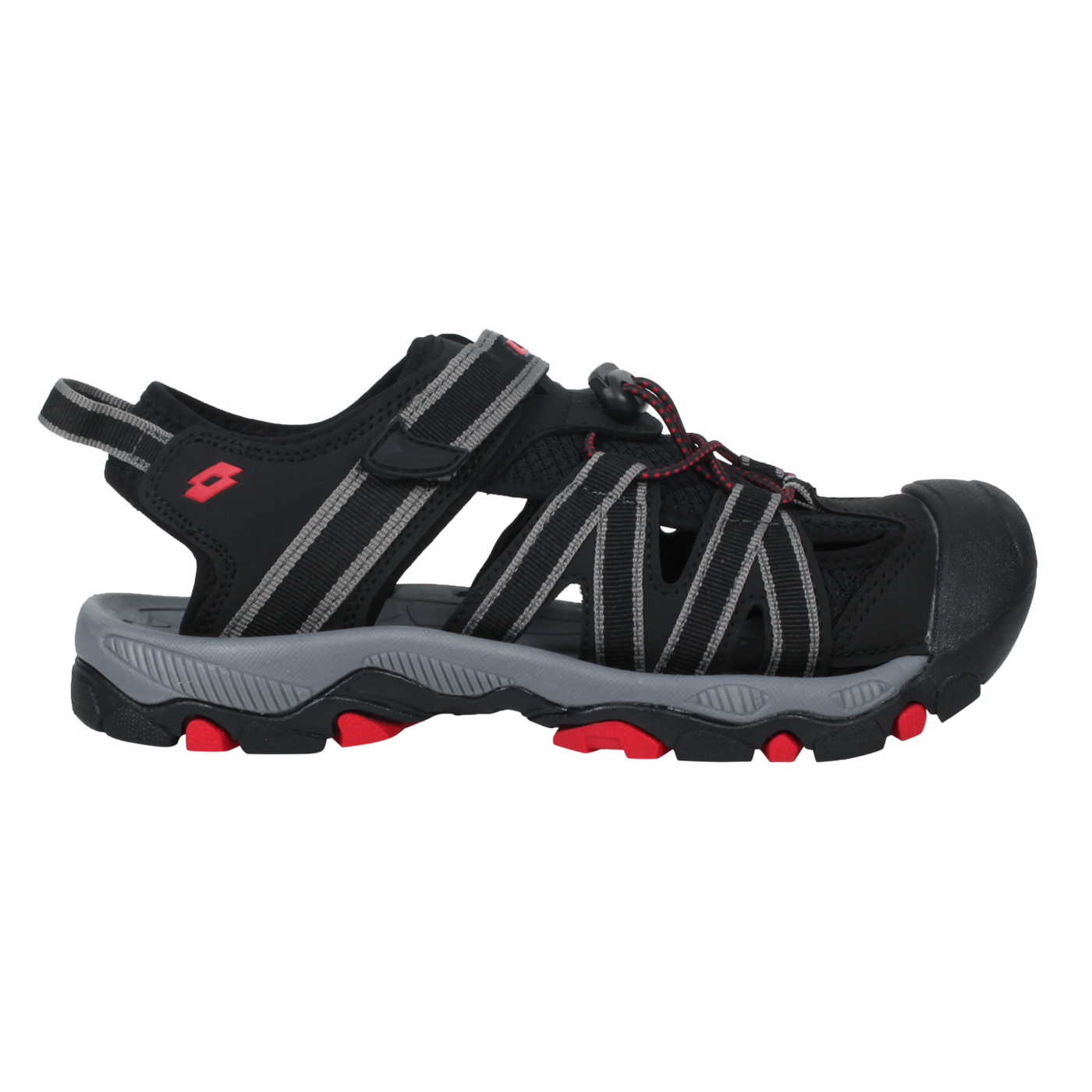 LOTTO 輕量護趾涼鞋 LT1AKS3320 - 黑紅