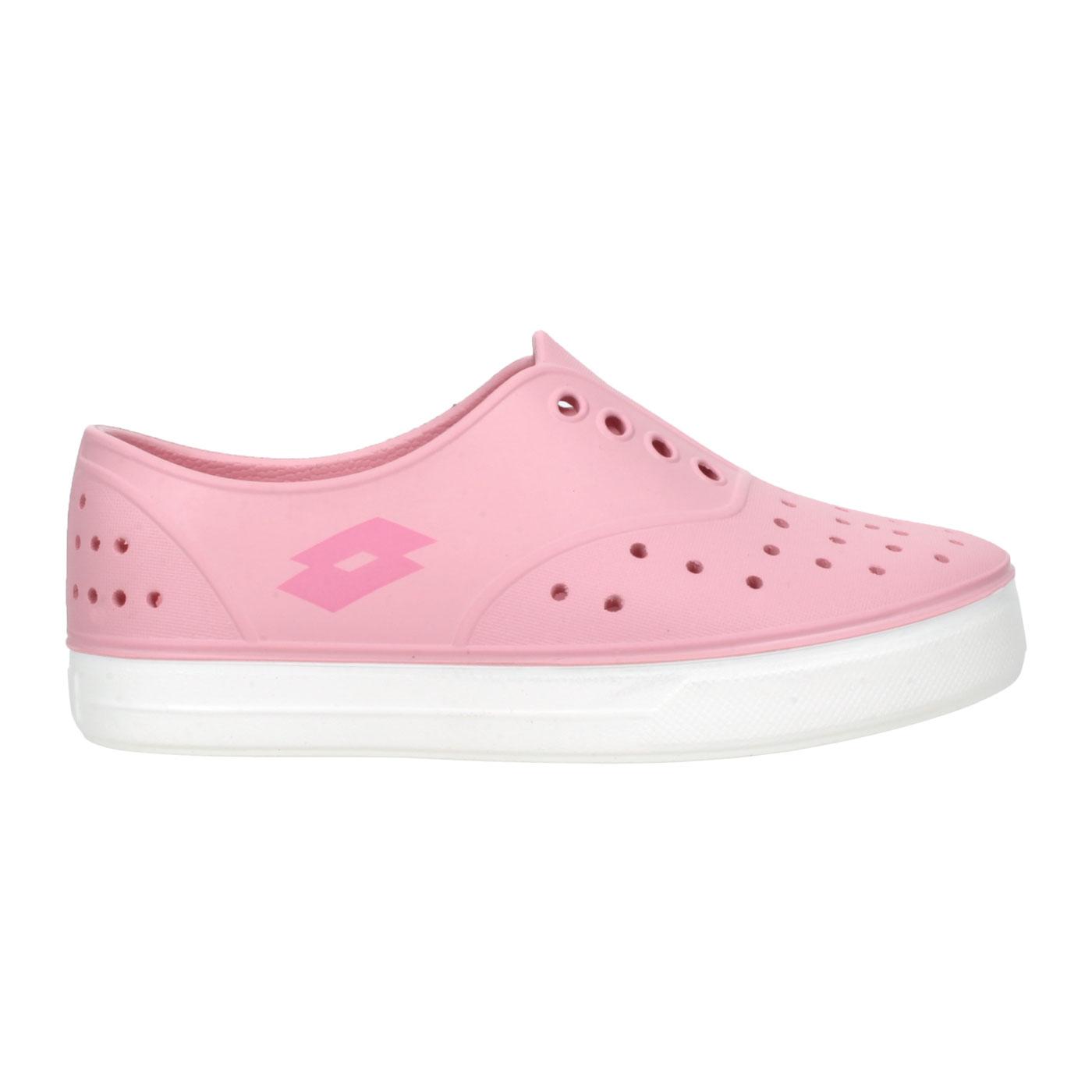 LOTTO 中童繽紛玩色亮彩洞洞鞋 LT1AKS3533 - 粉紅