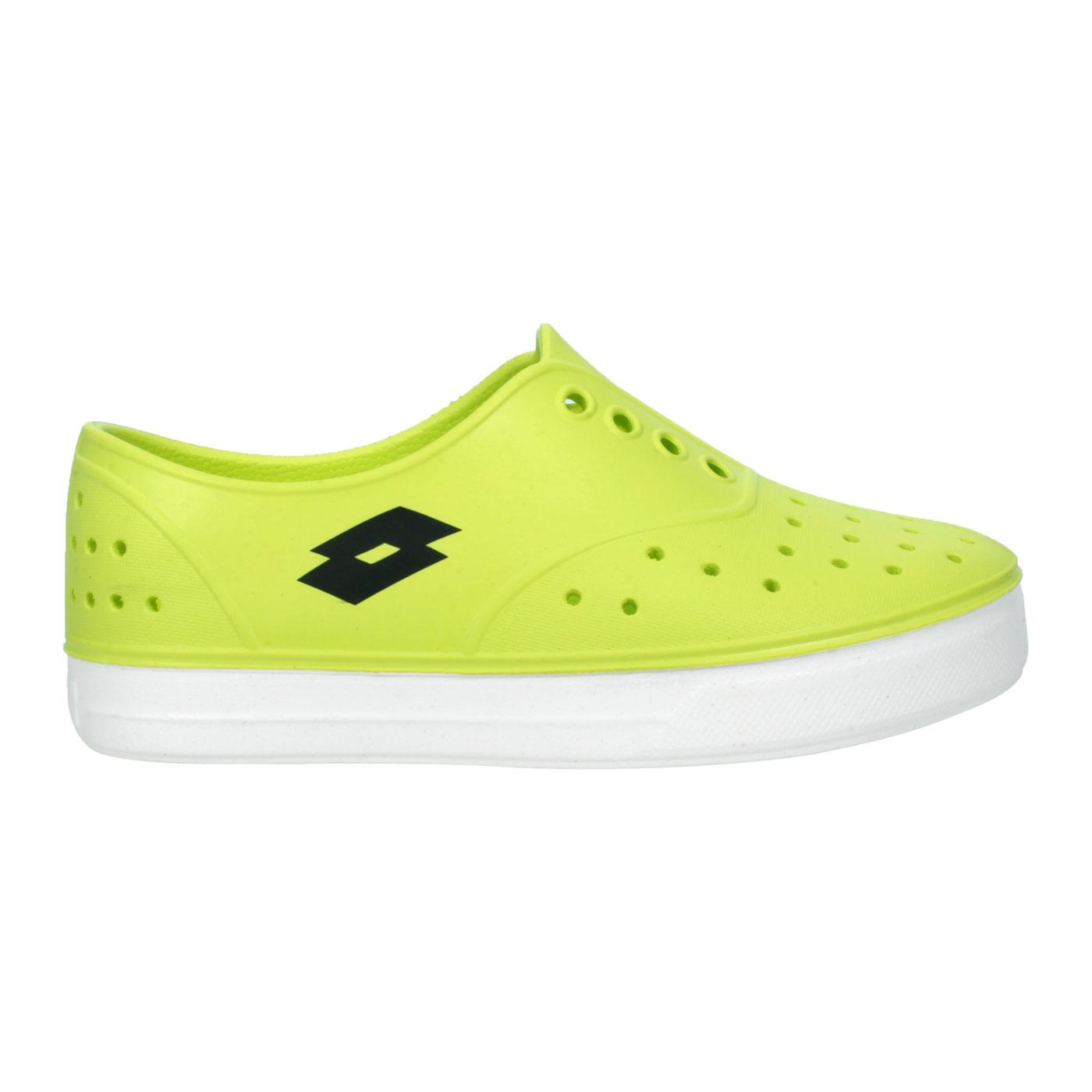 LOTTO 中童繽紛玩色亮彩洞洞鞋 LT1AKS3534 - 螢光黃