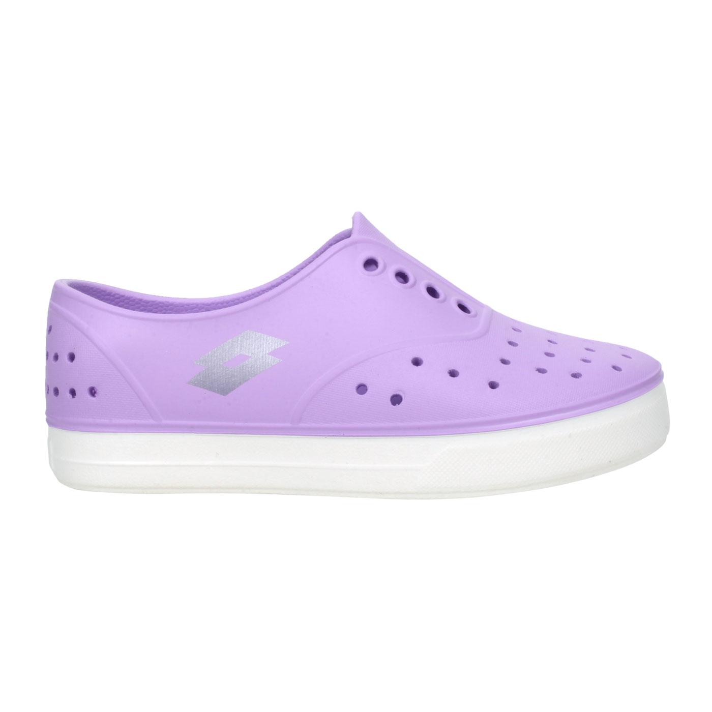 LOTTO 中童繽紛玩色亮彩洞洞鞋 LT1AKS3537 - 紫