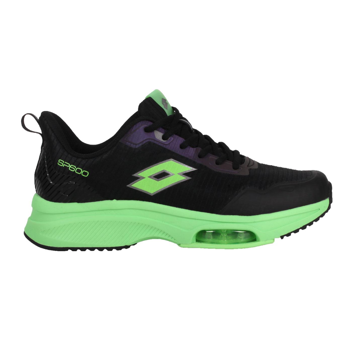 LOTTO 男款前掌氣墊跑鞋 LT1AMR3015 - 黑綠
